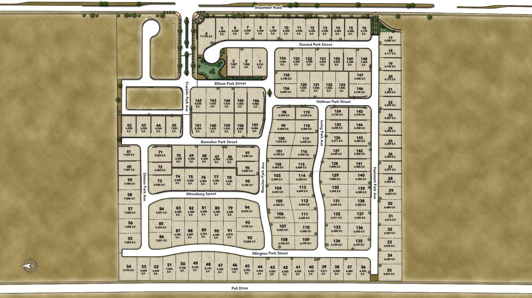Franklin Park at Providence Site Plan