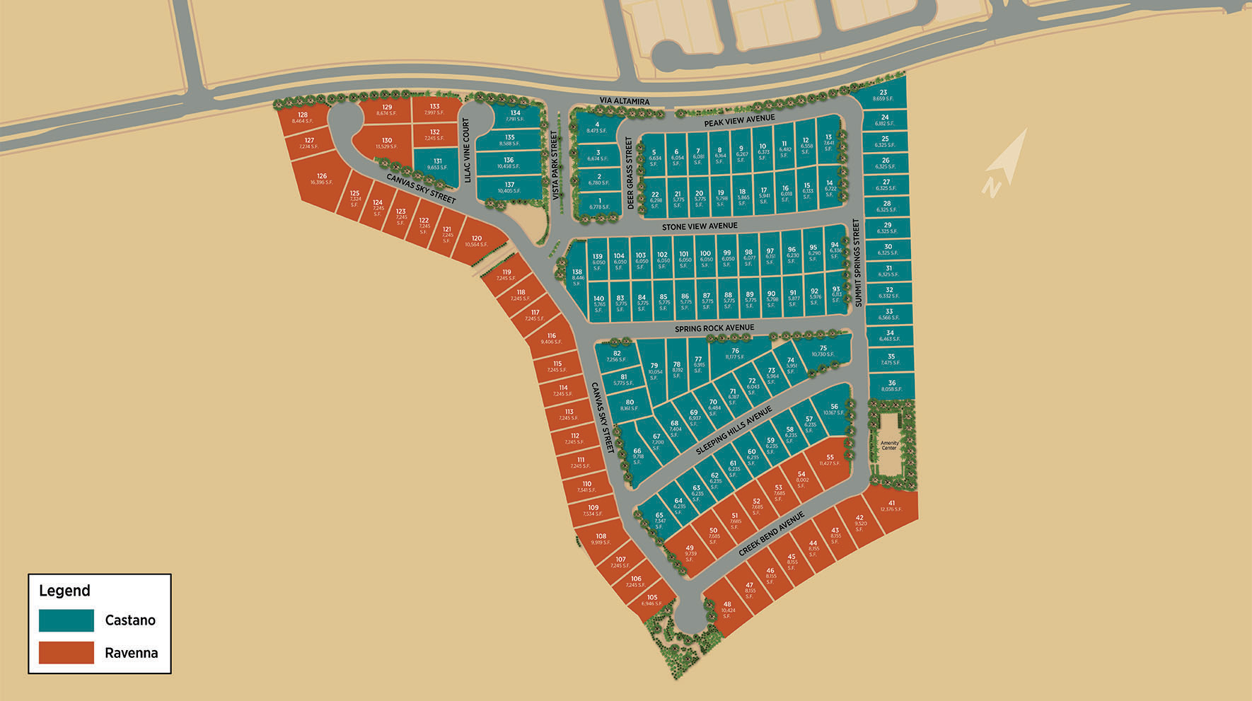 Toll Brothers at Inspirada - Castano Site Plan