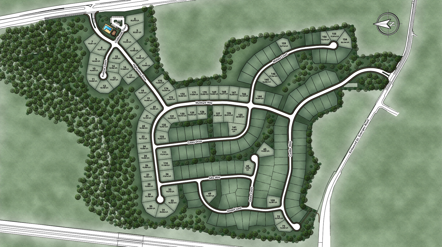 High Pointe at St. Georges - Estate Collection Site Plan