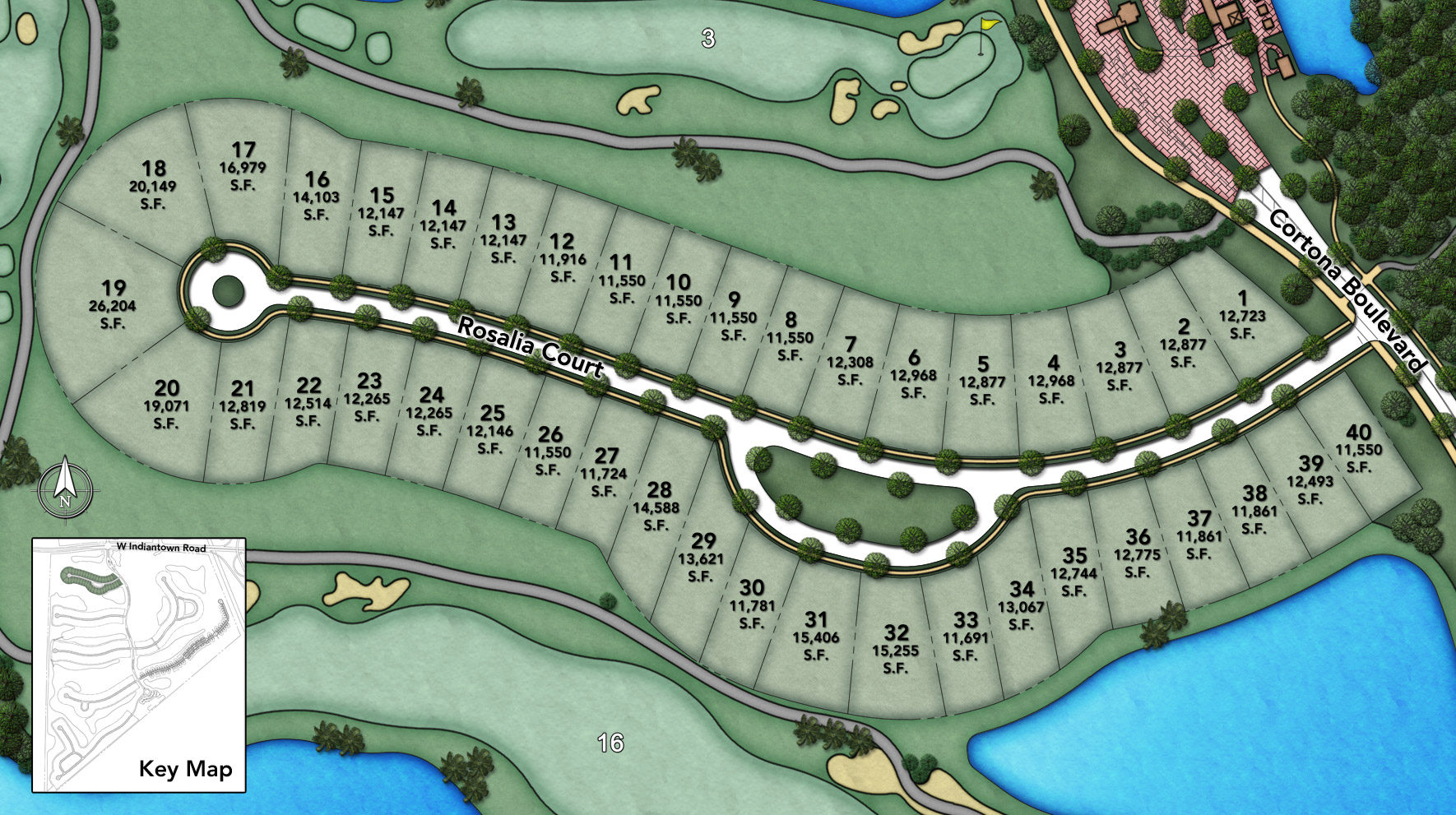 Jupiter Country Club - Heritage Collection - Rosalia Site Plan