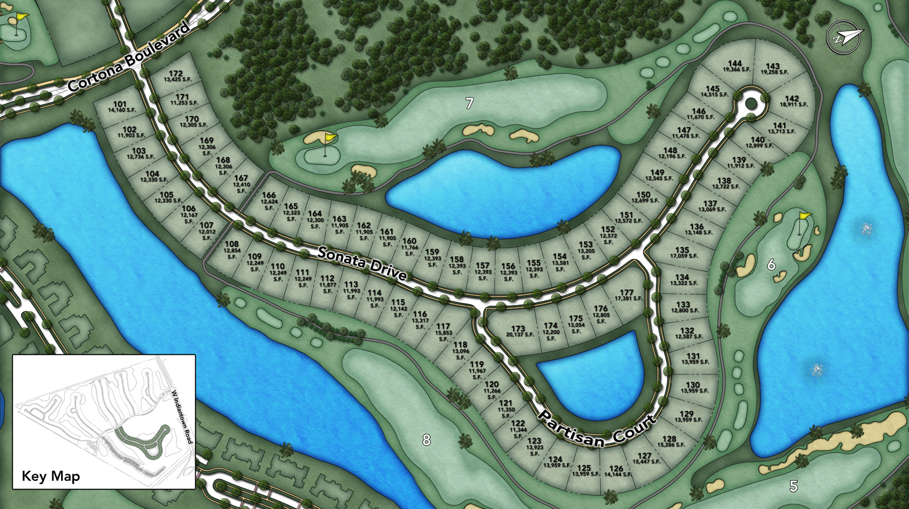 Jupiter County Club - Heritage Collection - Sonata Site Plan