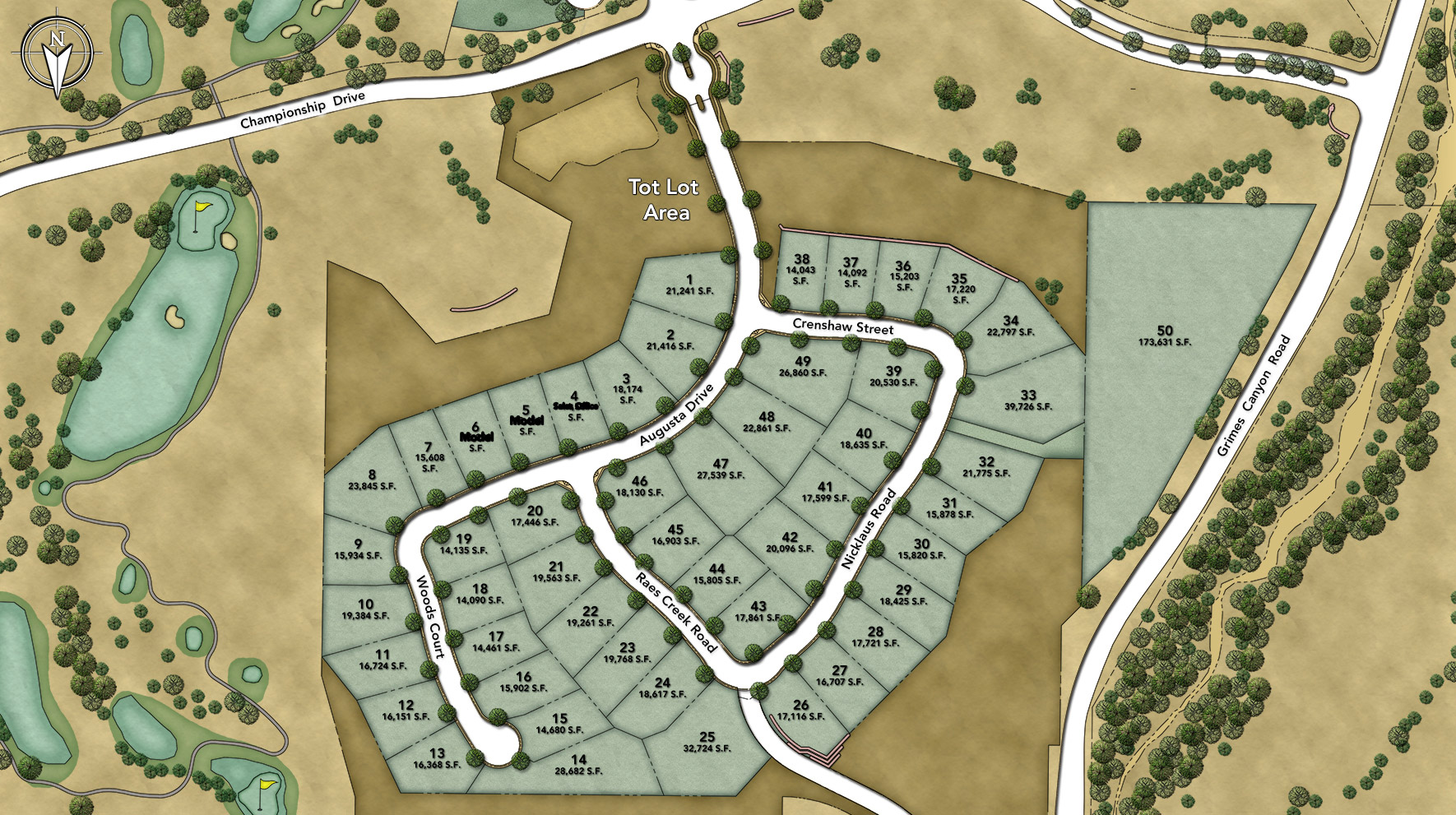 Masters at Moorpark Country Club Site Plan