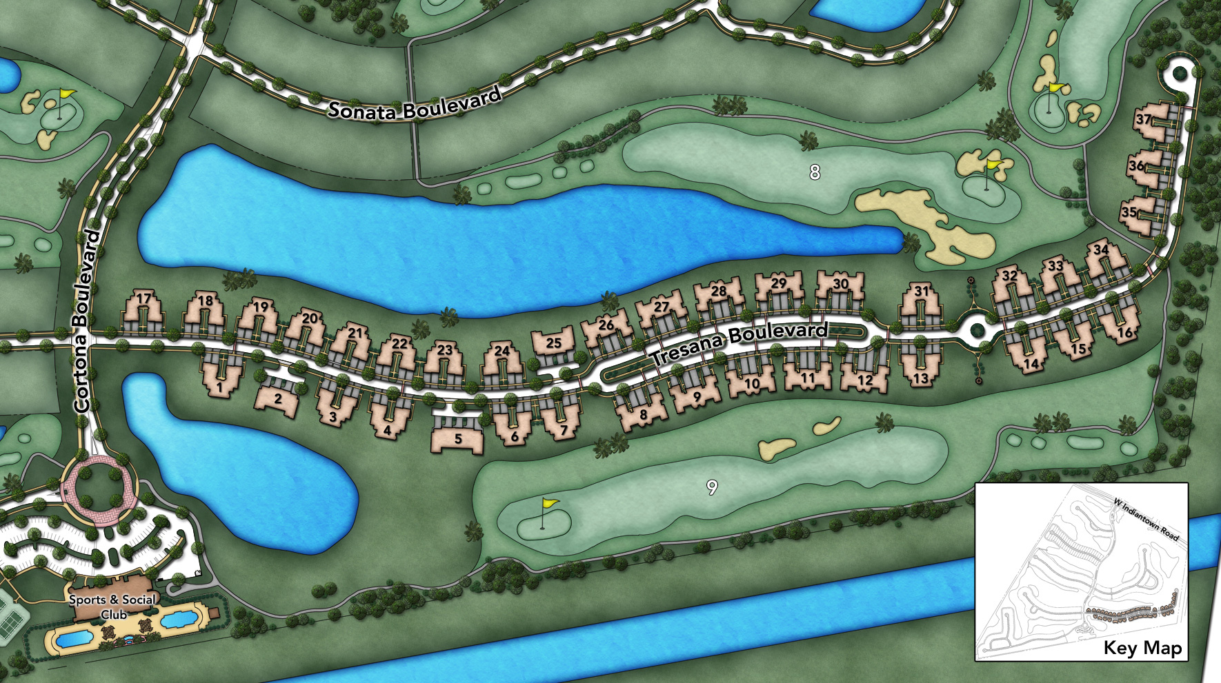 Jupiter Country Club - Carriage Homes Collection Site Plan