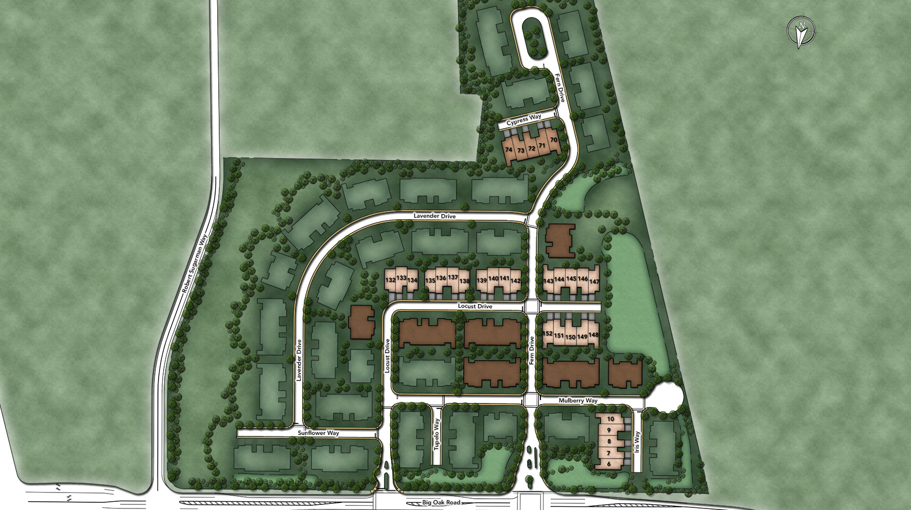 Regency at Yardley - The Carriage Collection Site Plan