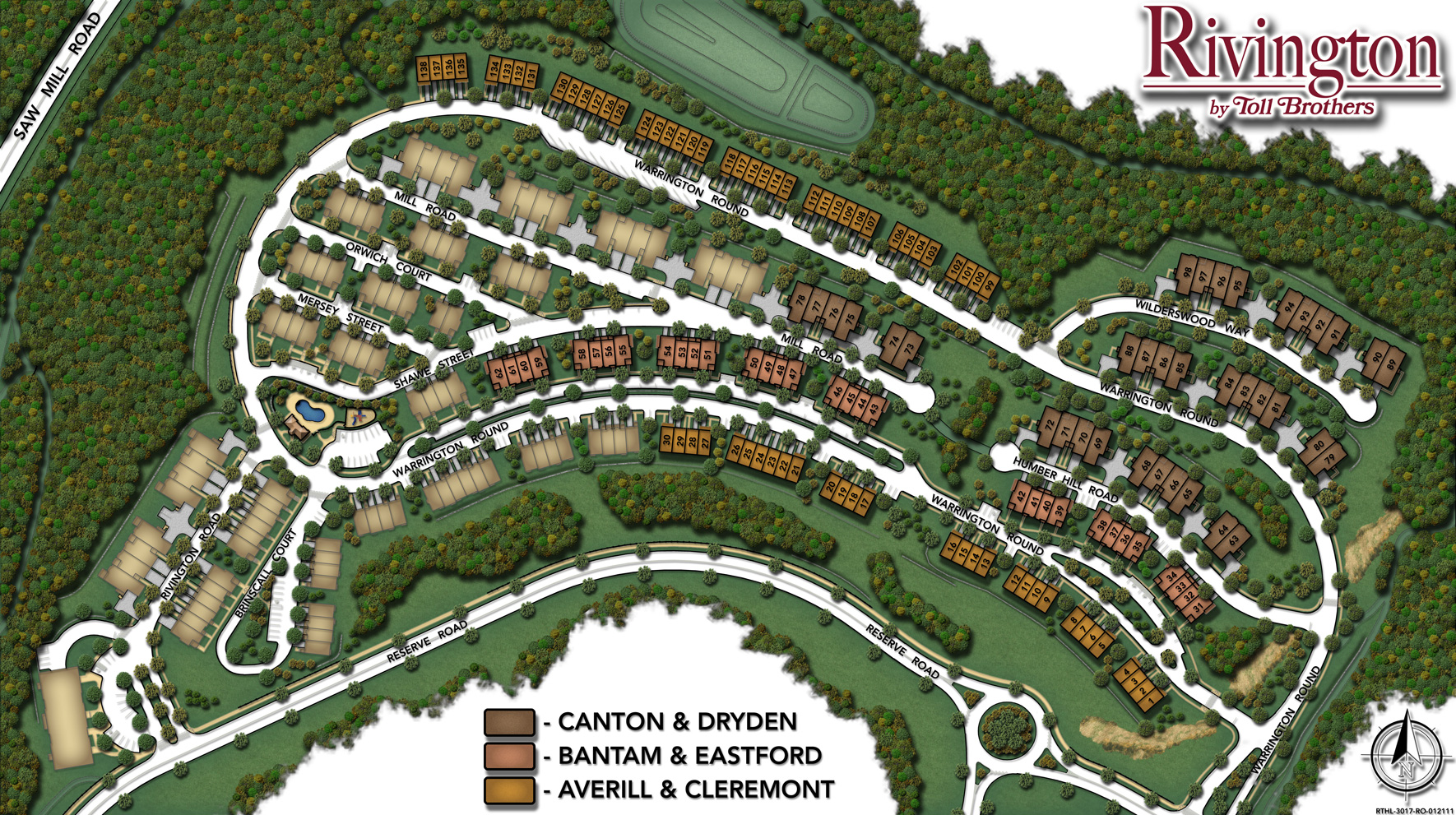 Rivington by toll brothers the hills collection site plan for The rivington