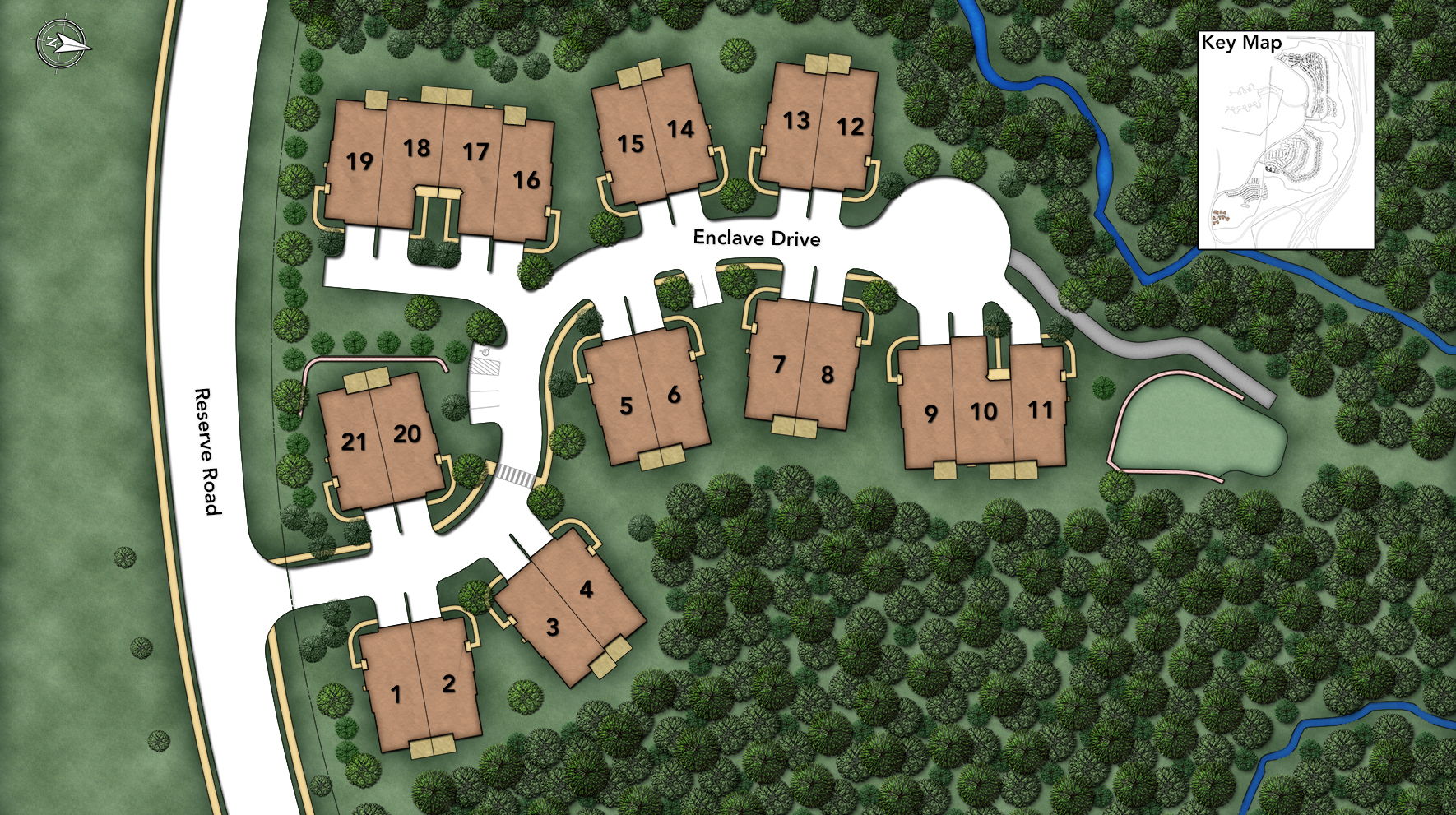 Rivington by Toll Brothers - The Enclave Collection Site Plan