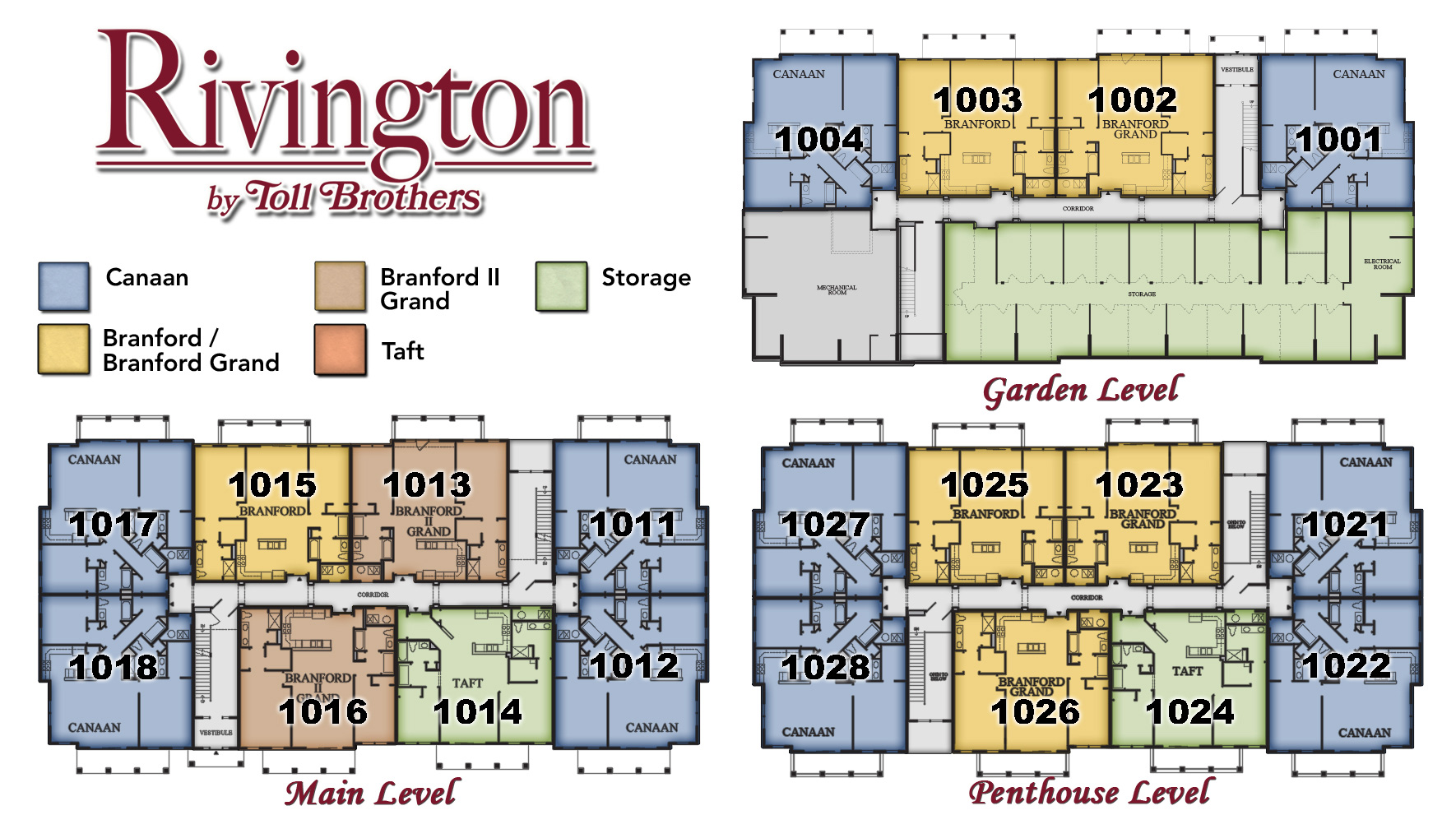 Rivington by Toll Brothers Building 1000 Site Plan