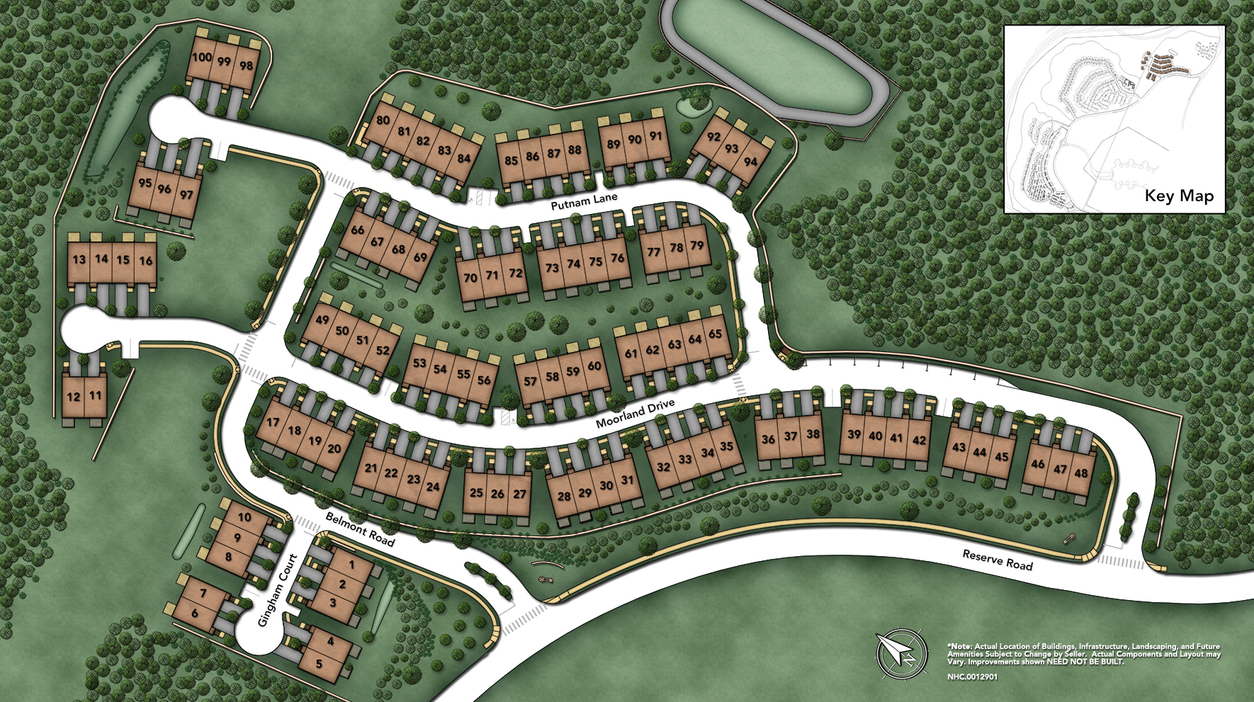 Rivington by Toll Brothers - The Village Collection Site Plan