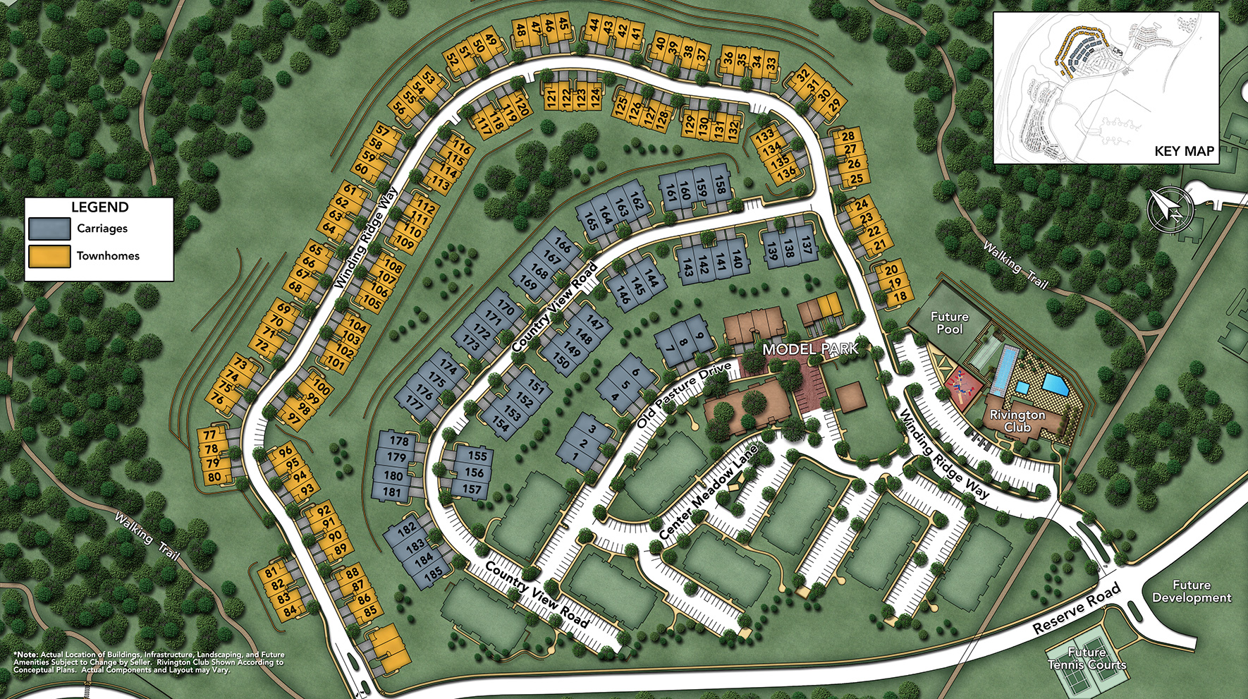 Rivington by Toll Brothers - The Ridge Collection Site Plan