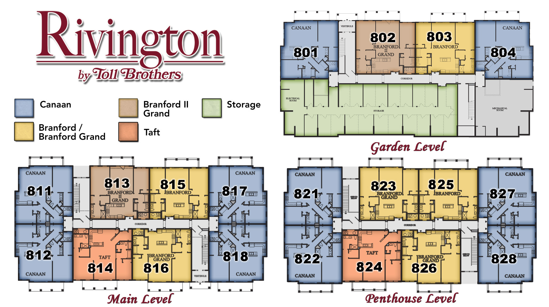 Rivington by Toll Brothers Building 800 Site Plan