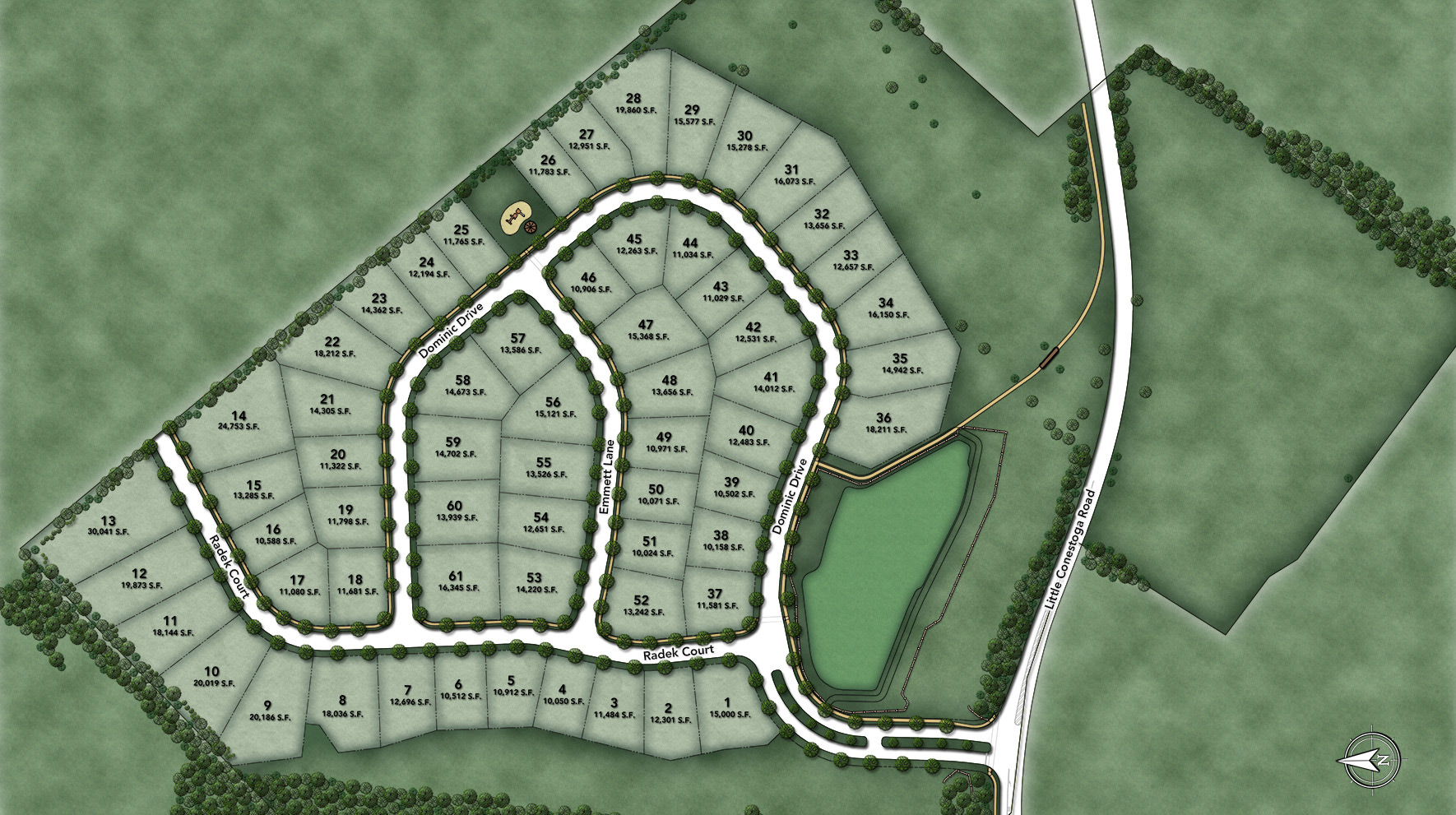 Reserve at Chester Springs Site Plan