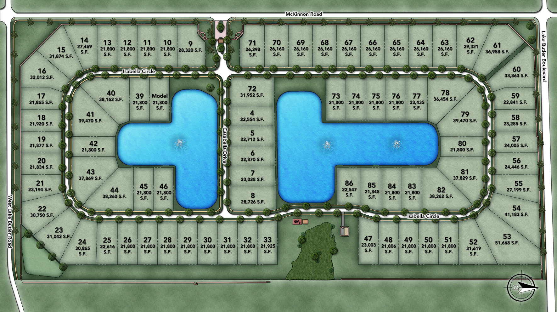 Casabella at Windermere Site Plan