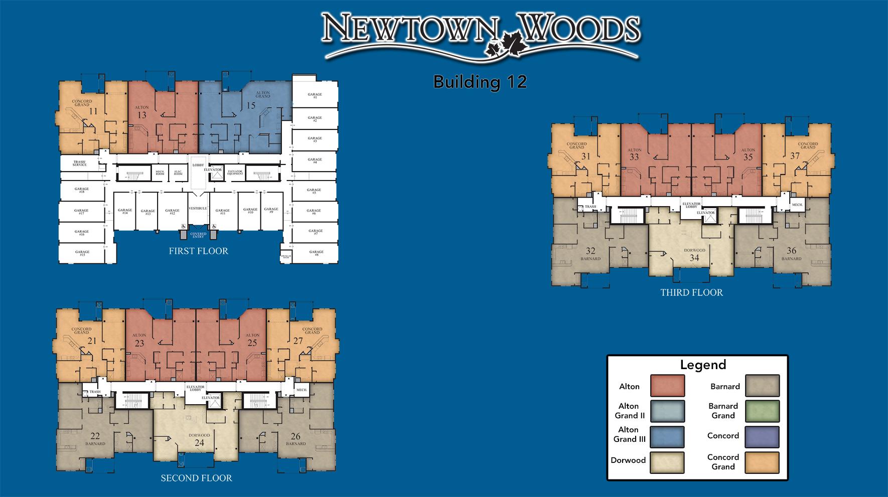 Newtown Woods - Regency Building 12 Site Plan