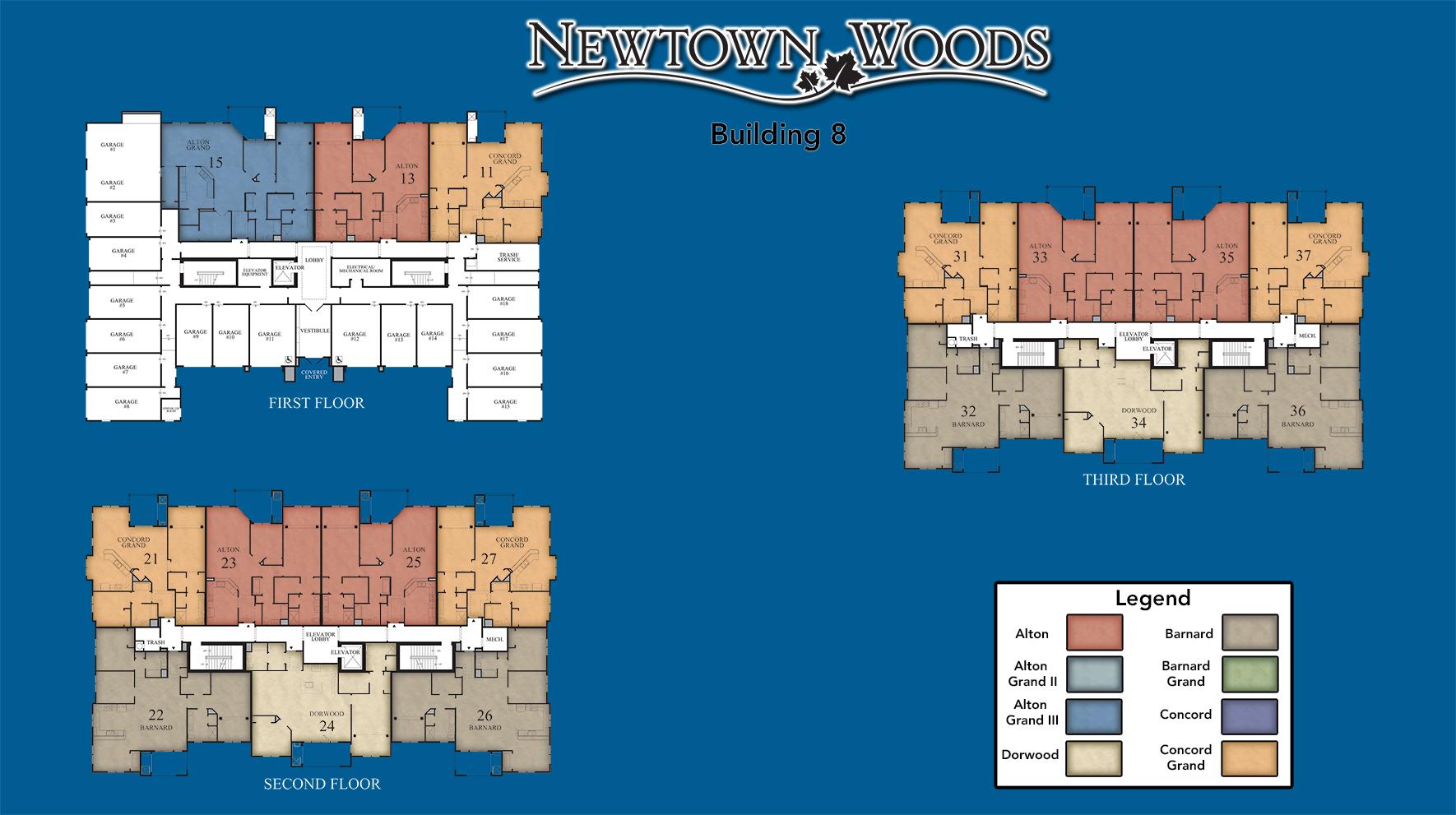 Newtown Woods - Regency Building 8 Site Plan