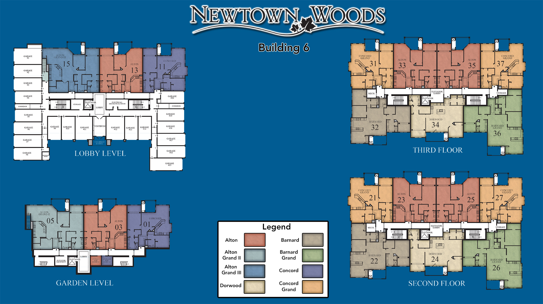 Newtown Woods - Regency Building 6 Site Plan