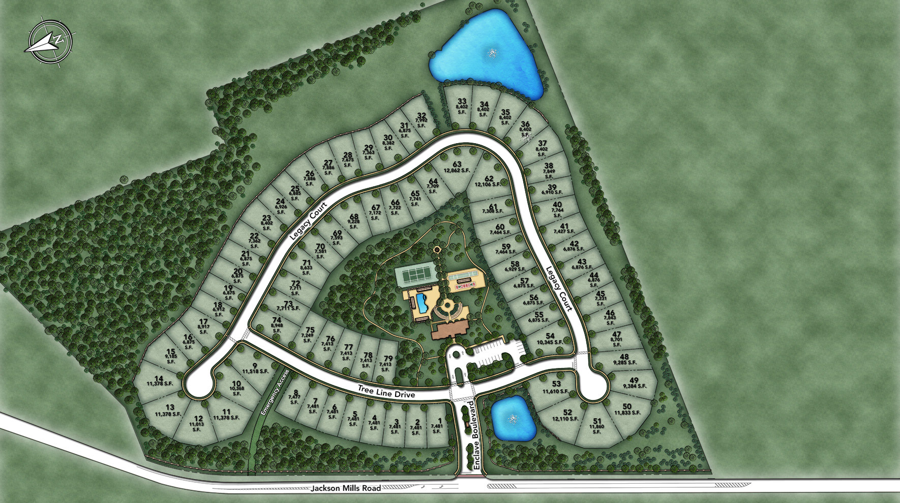 Enclave at Freehold Site Plan