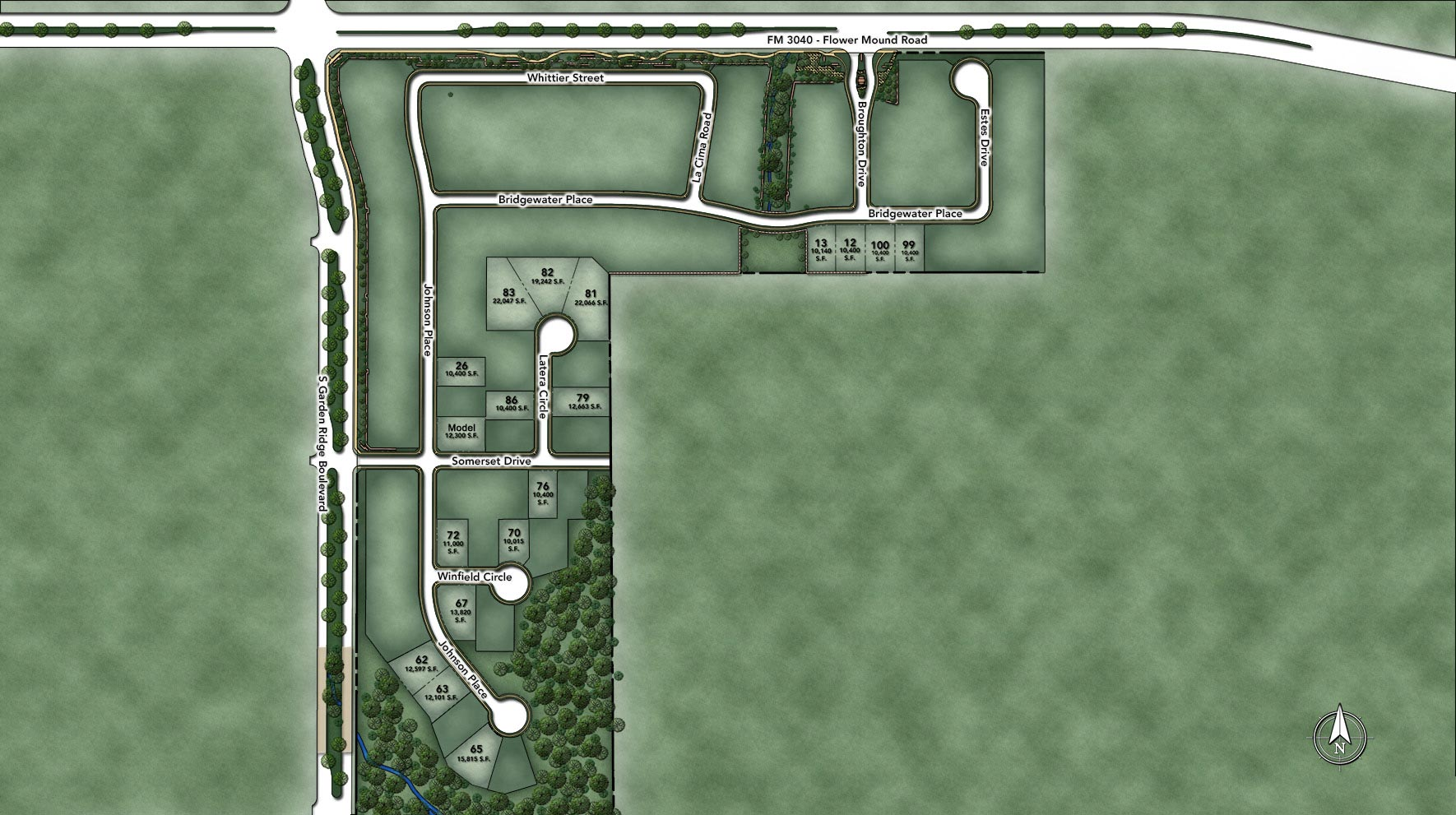 Creekside at Heritage Park - Section 1 Site Plan Map