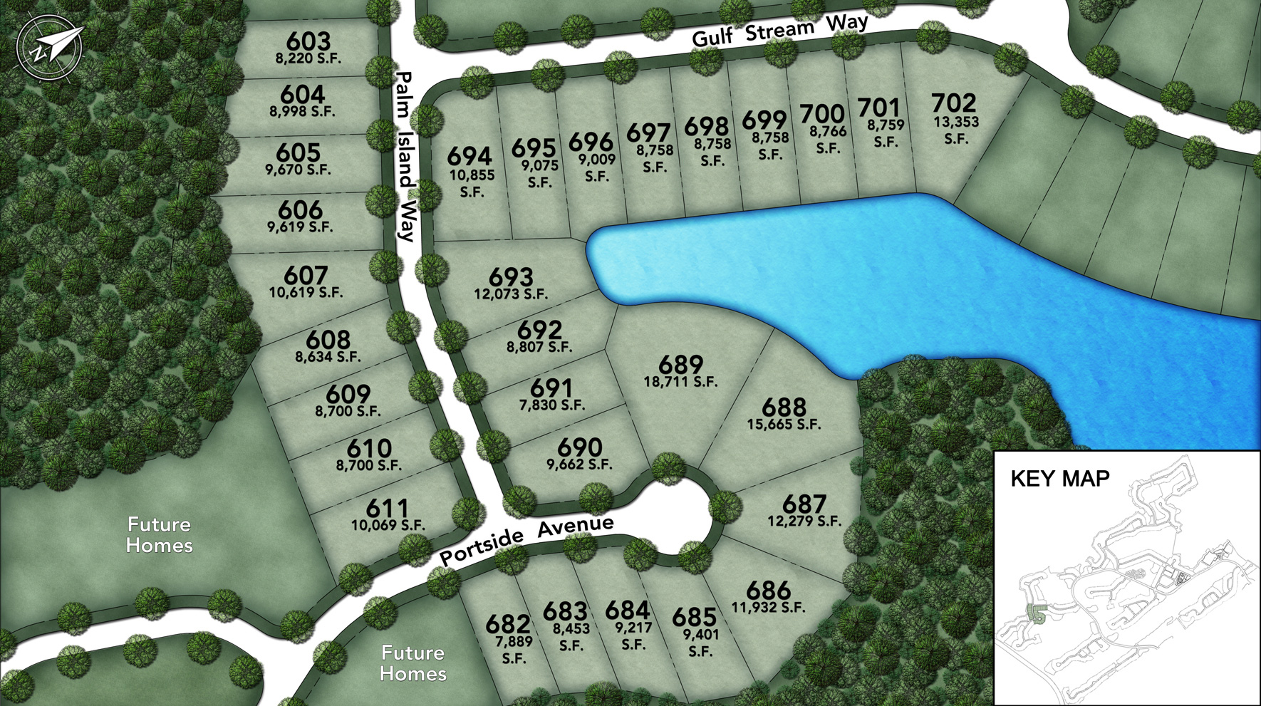 Coastal Oaks at Nocatee - Heritage Collection Palm Island I Site Plan