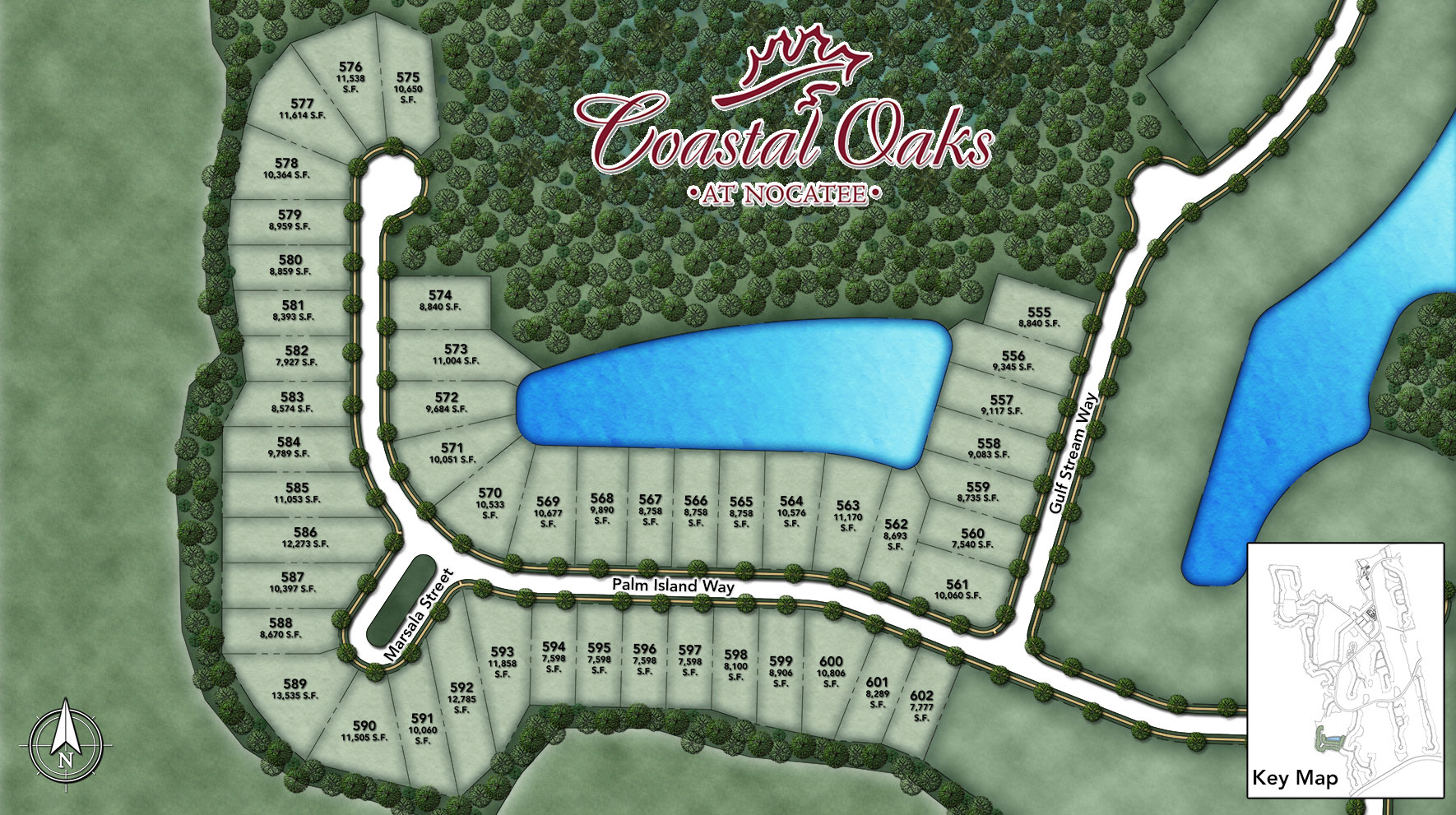 Coastal Oaks at Nocatee - Heritage Collection Palm Island II Site Plan