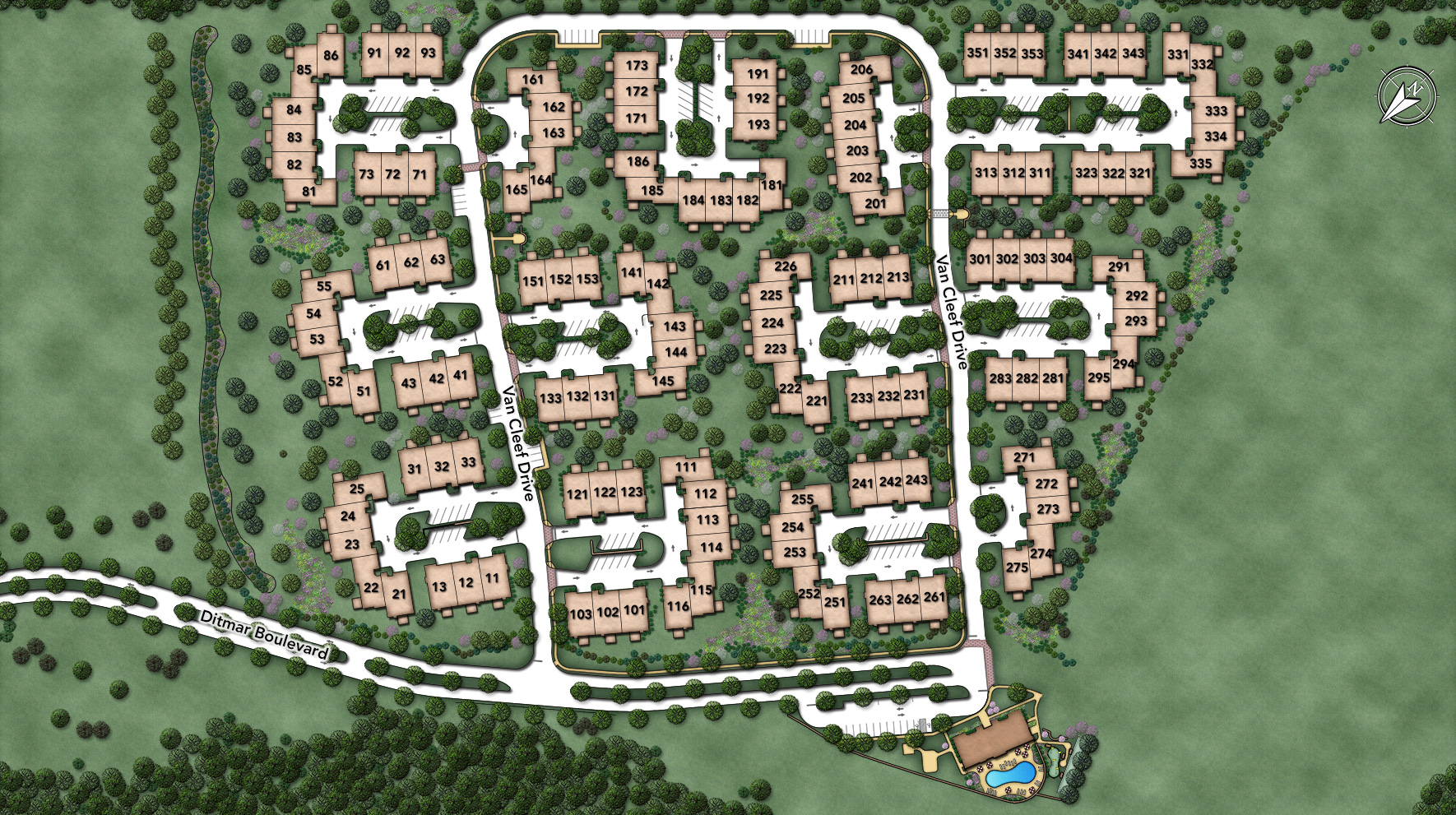 Regency at Readington - Carriages Site Plan