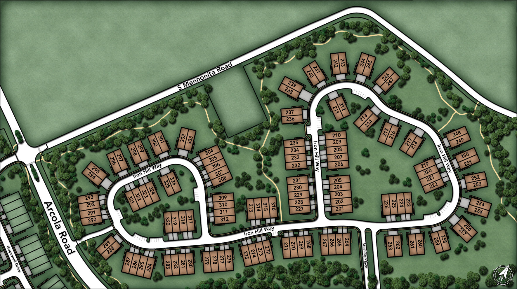 White Springs at Providence-The Manors Collection Site Plan