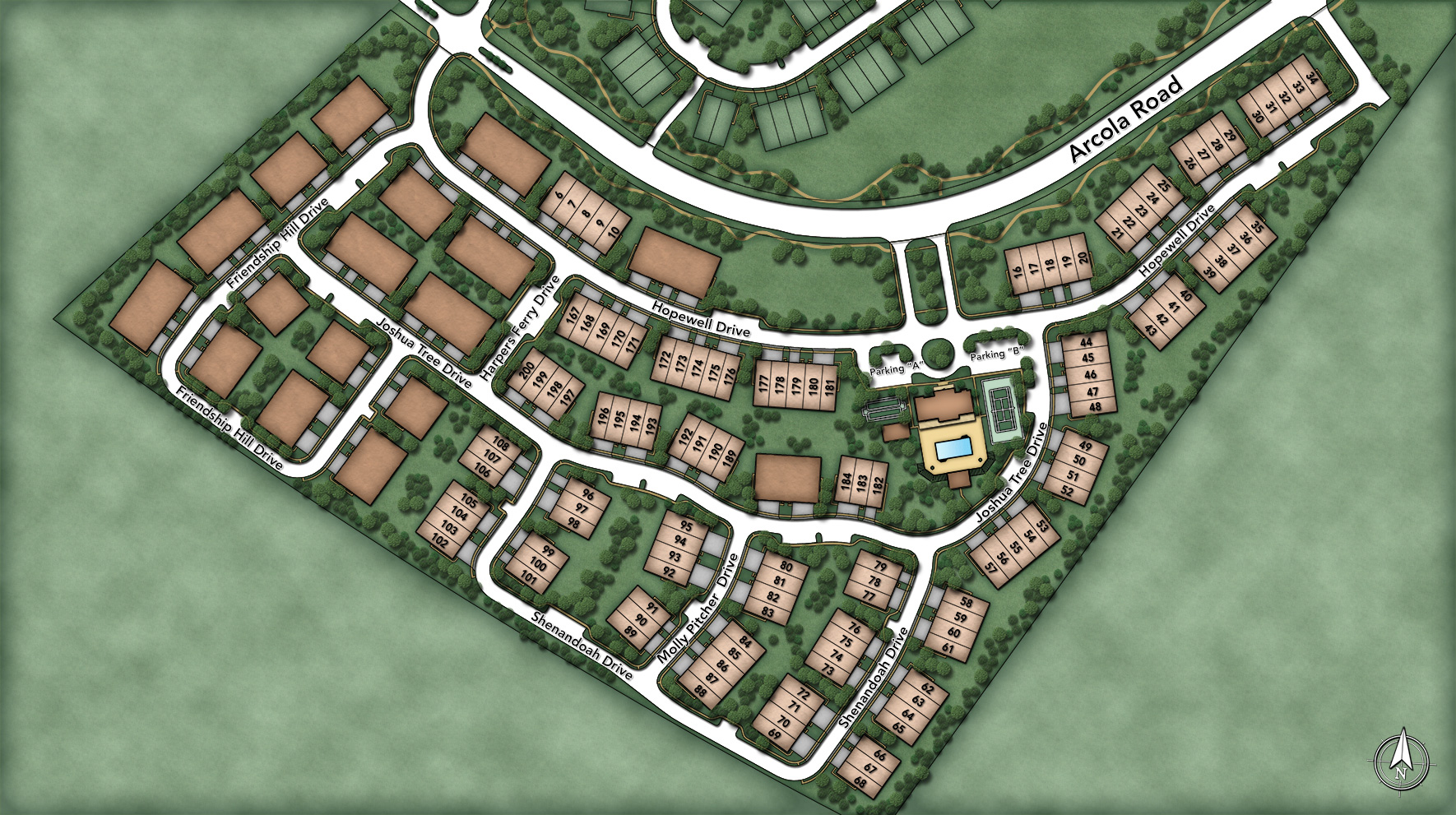 White Springs at Providence-The Regency Collection Site Plan