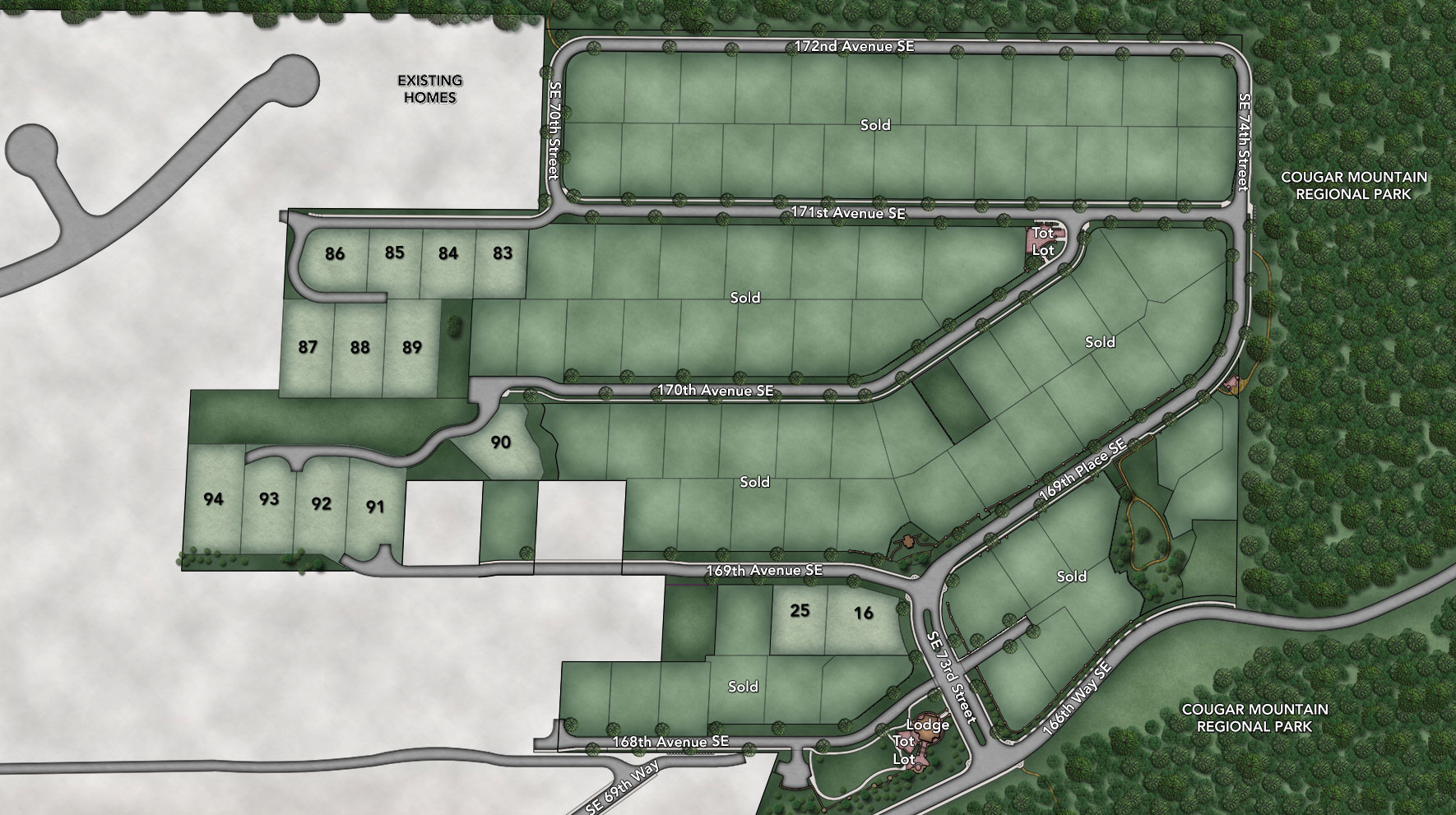 Belvedere at Bellevue Site Plan
