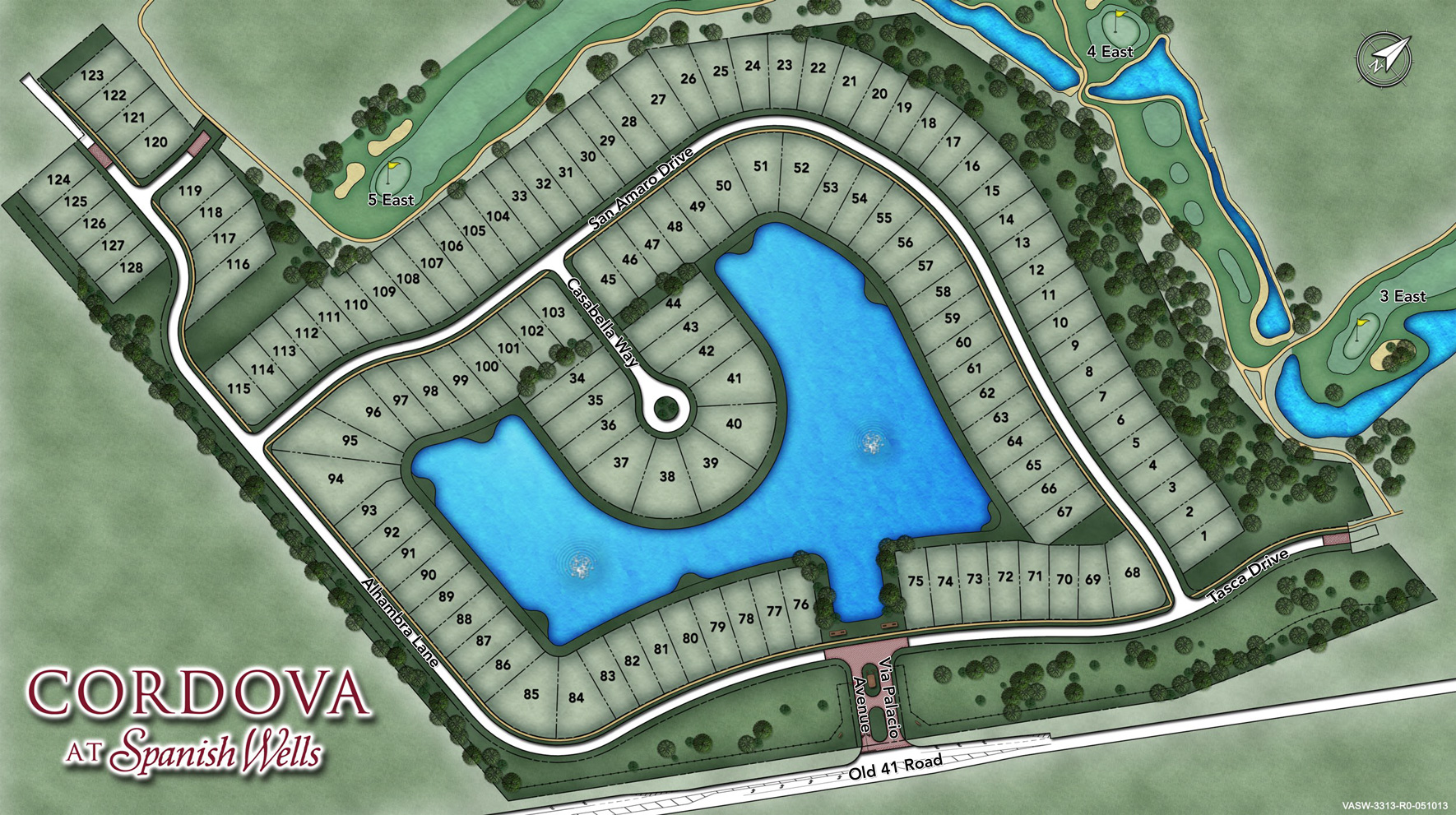 Cordova at Spanish Wells Site Plan