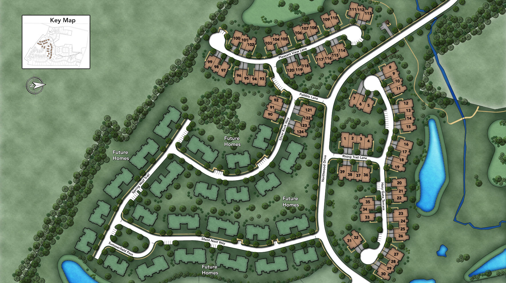 Reserve at Franklin Lakes - Carriages Collection Hazy Gate Section Site Plan