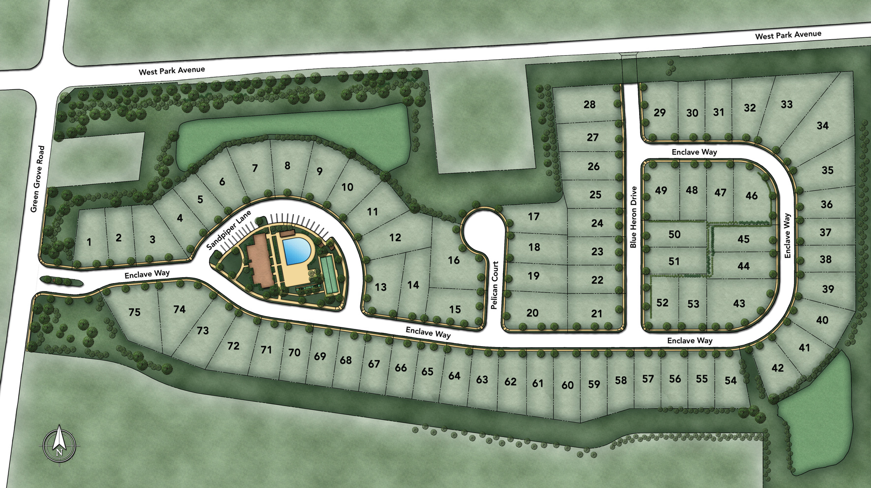 Enclave at Ocean Overall Site Plan