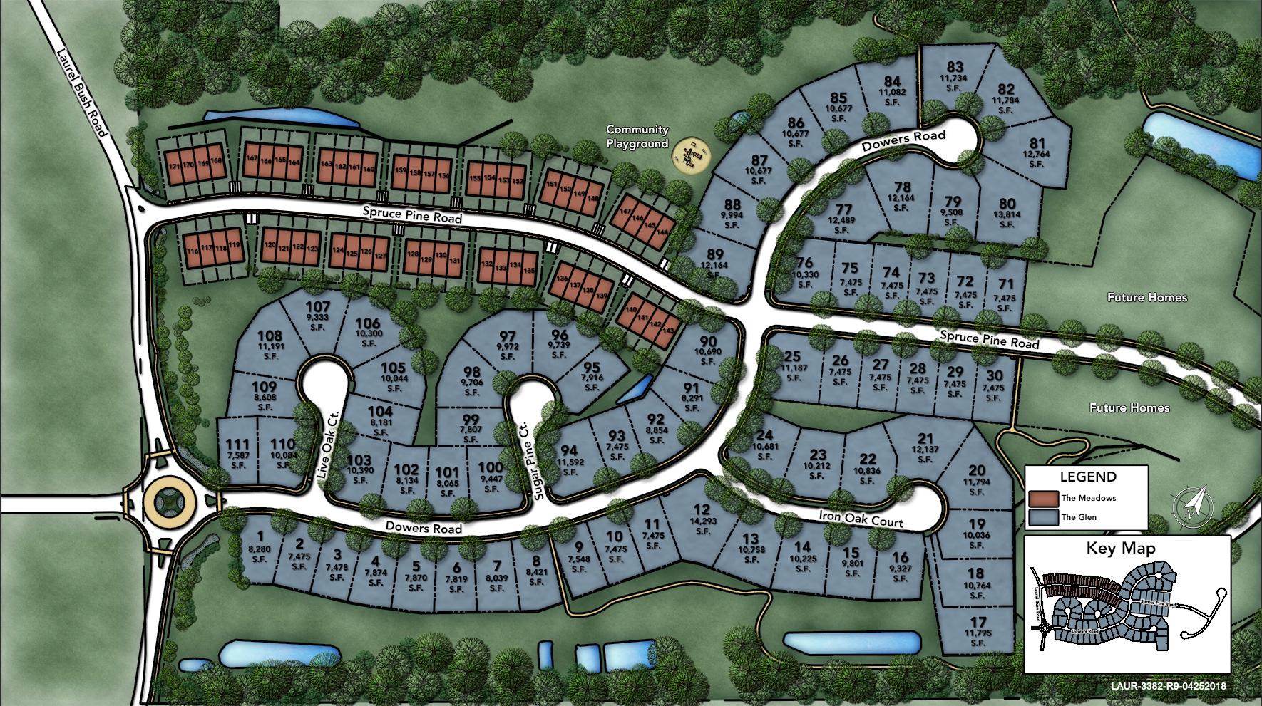 Laurel Ridge - The Glen Site Plan