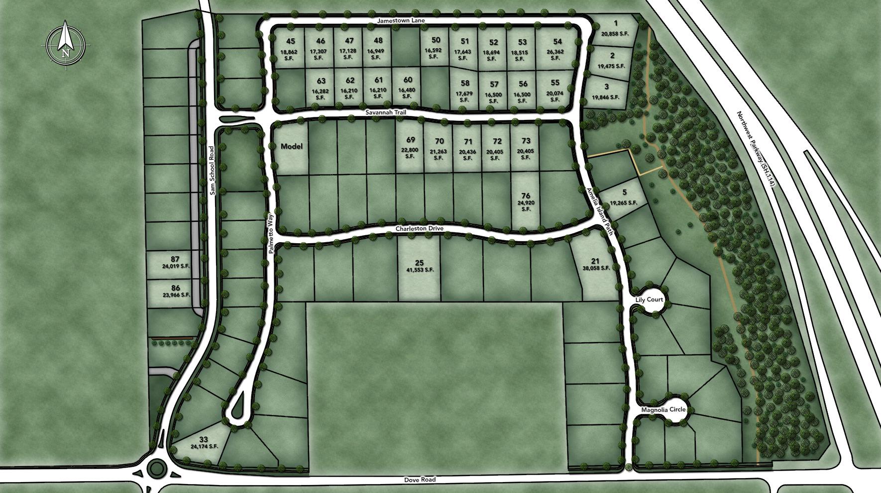 Southlake Meadows Site Plan