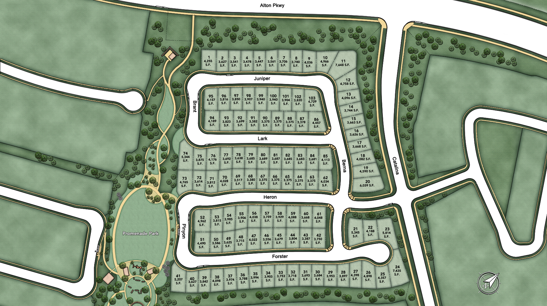 Terraces at Baker Ranch Site Plan