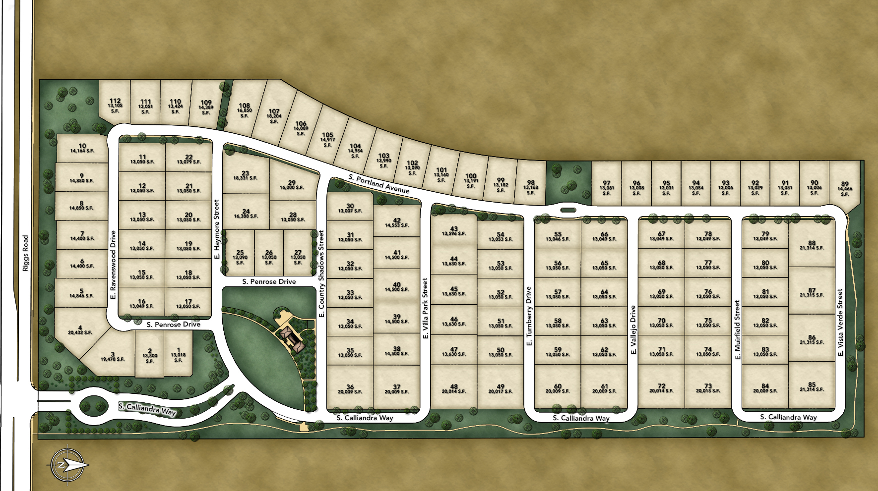 Calliandra Estates Site Plan