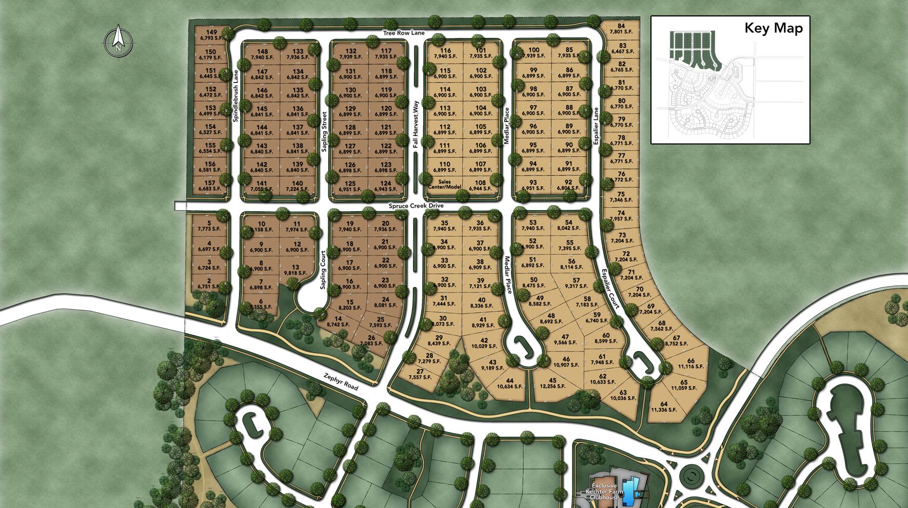 The Enclave at Kechter Farm Site Plan