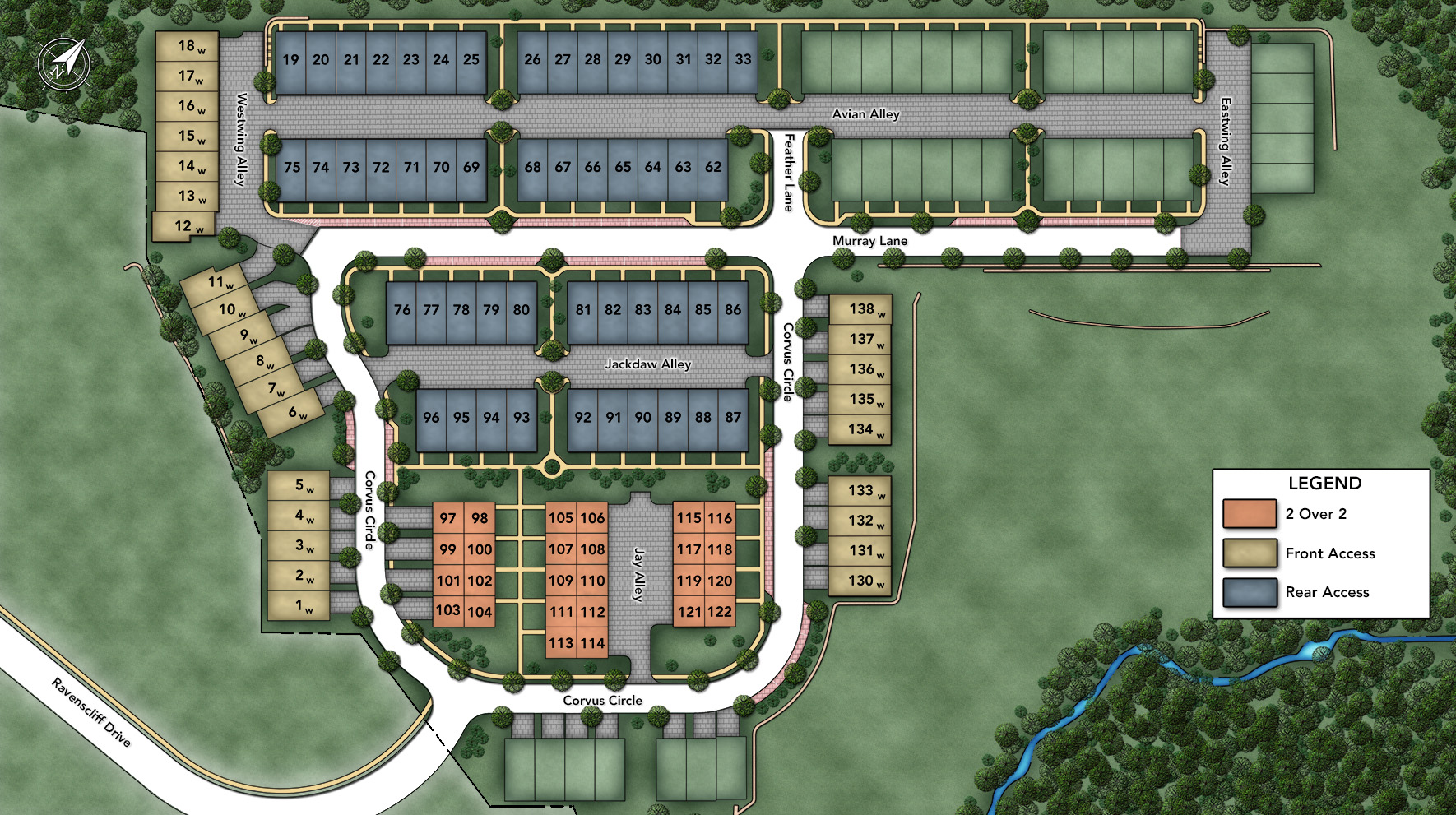 New luxury homes for sale in media pa ravenscliff at for Stacked townhouse floor plans