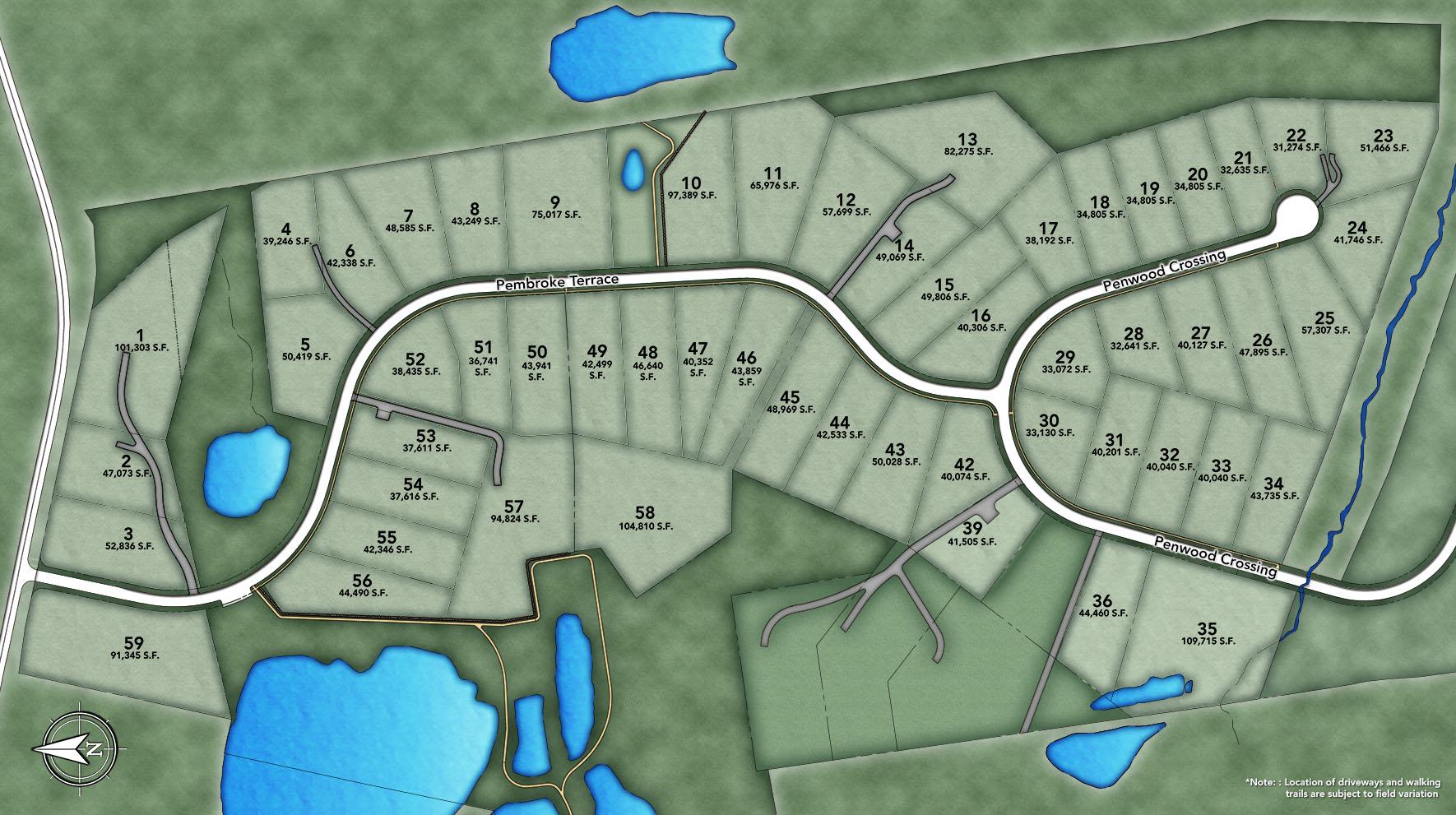 Glastonbury Estates Site Plan