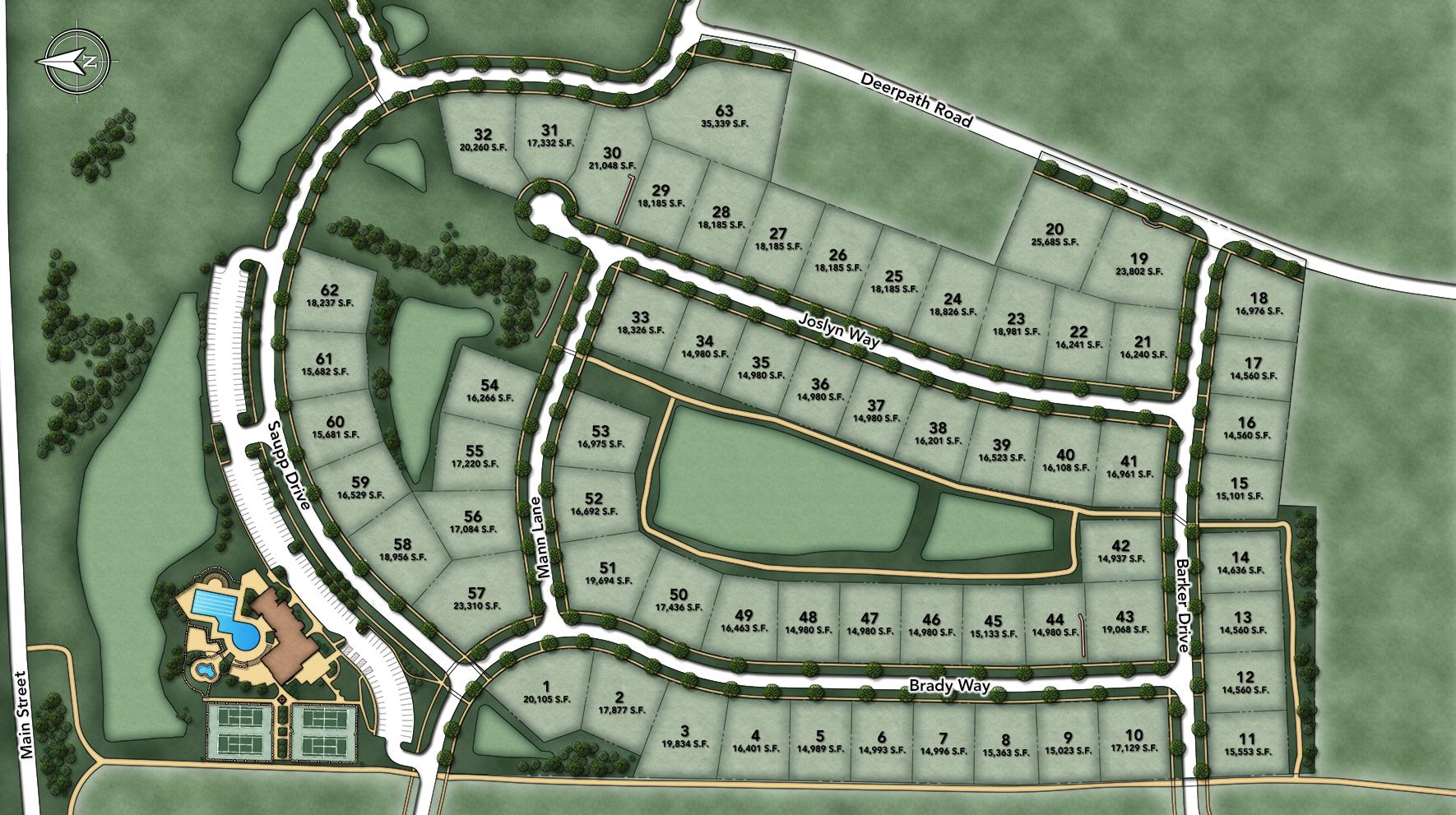 Tanglewood Hills Site Plan