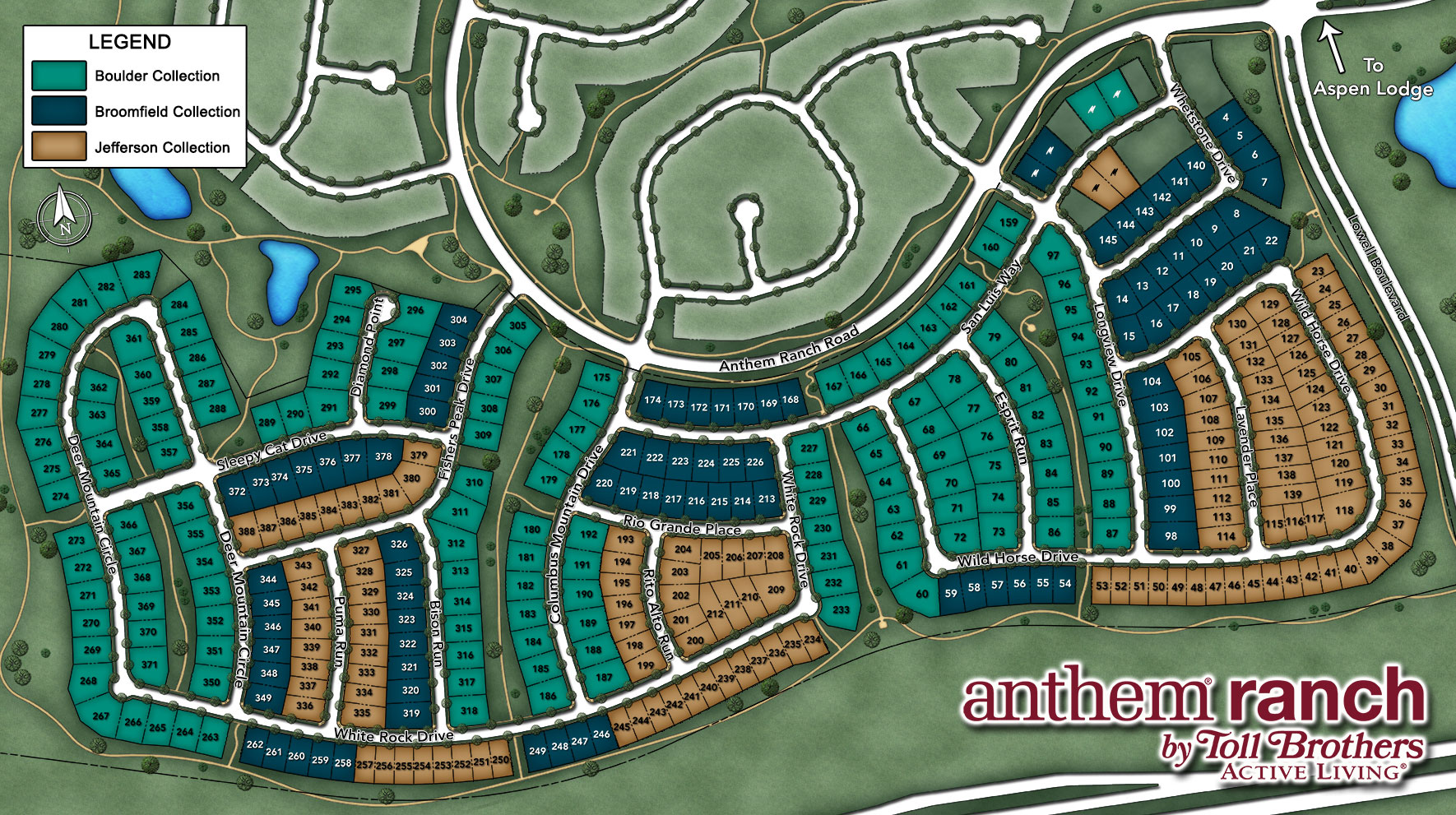 Anthem Ranch by Toll Brothers - Boulder Collection Site Plan