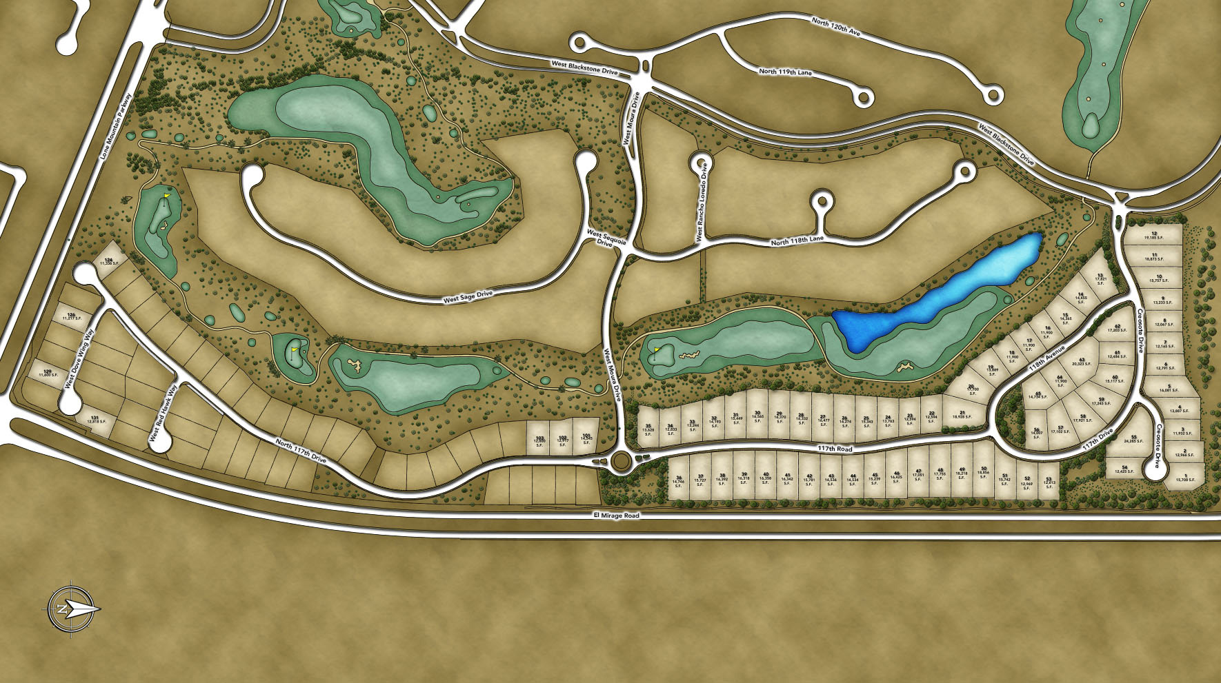 Toll Brothers at Blackstone - The Retreat Collection Site Plan