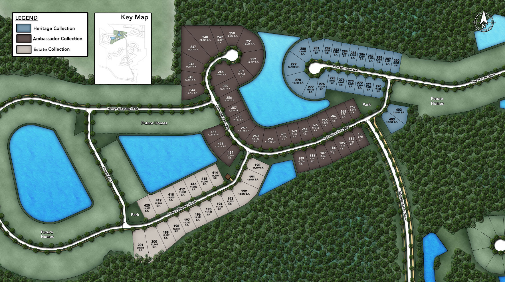 Julington Lakes - Estate Collection Site Plan IV