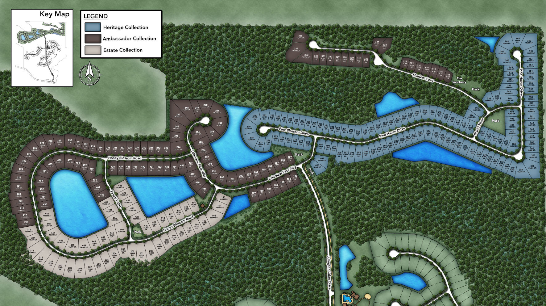 Julington Lakes - Ambassador Collection Site Plan