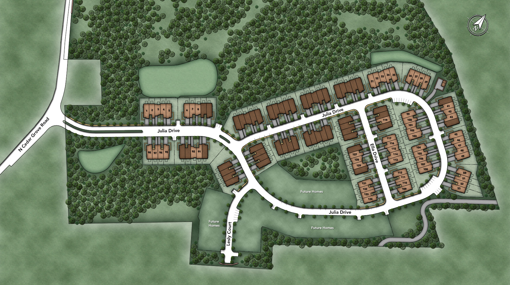 Oaks at Lafayette Hill Site Plan