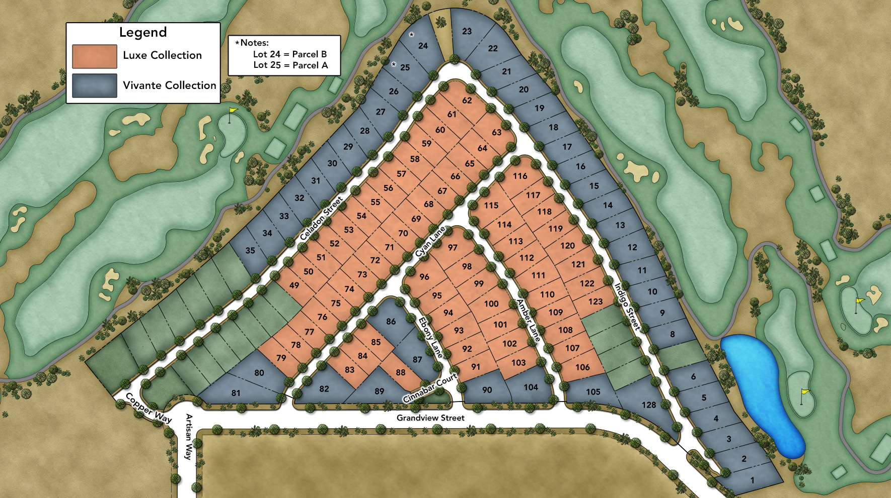 Toll Brothers at Escena Site Plan