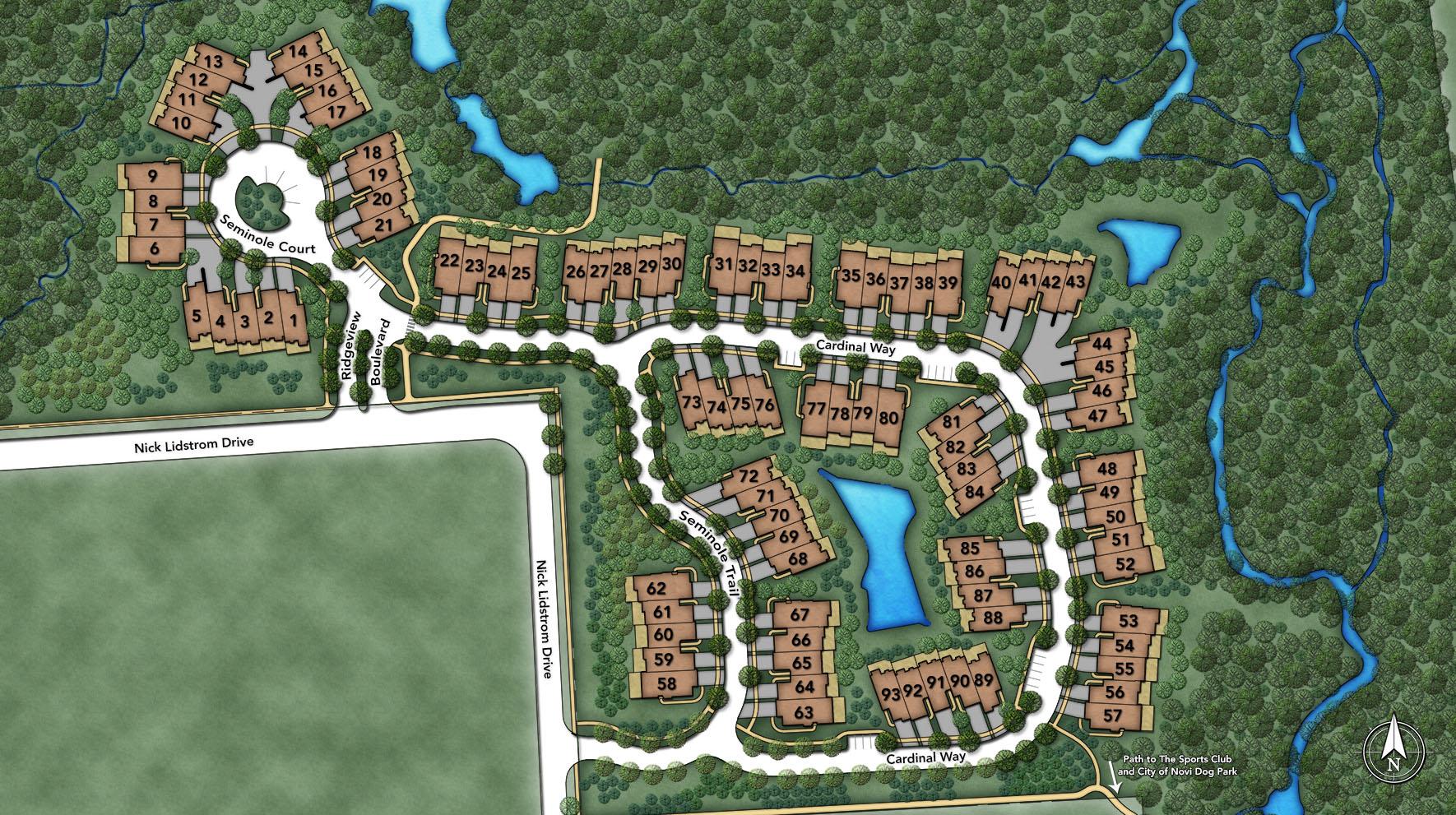 Ridgeview of Novi Site Plan