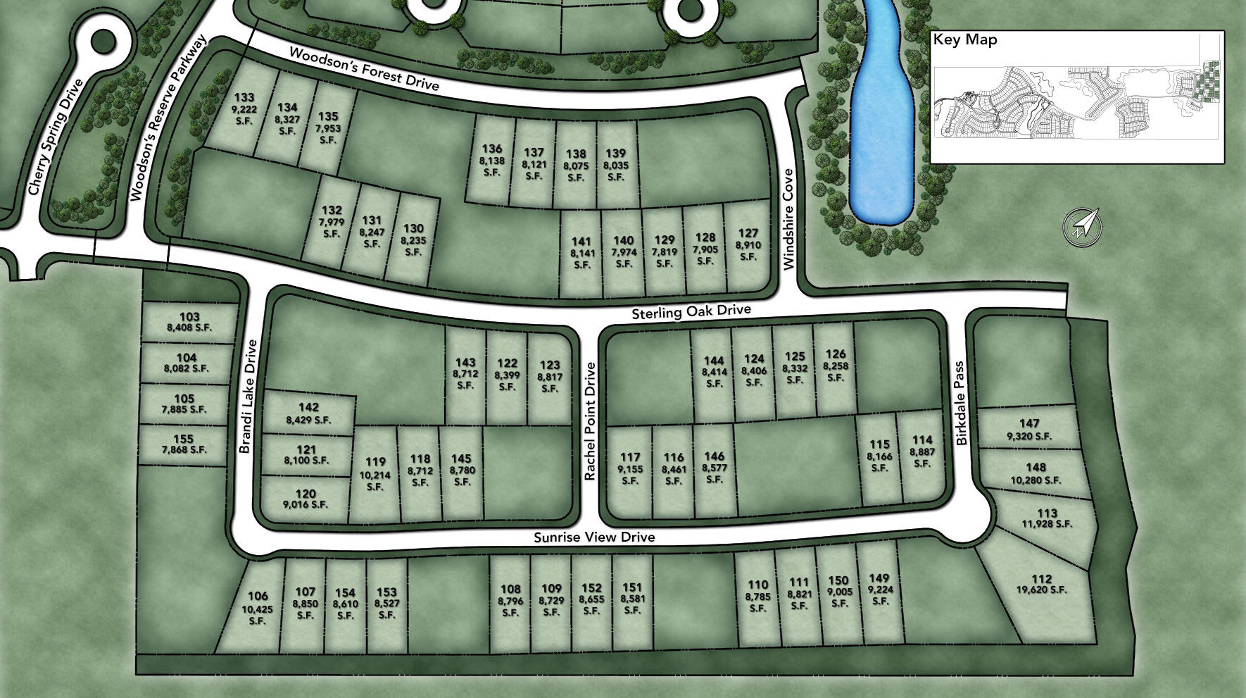 Woodson's Reserve - Select Collection - Sterling Oak Site Plan