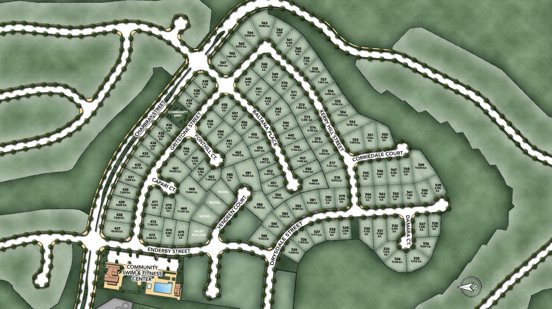 Ashbury at Alamo Creek Site Plan