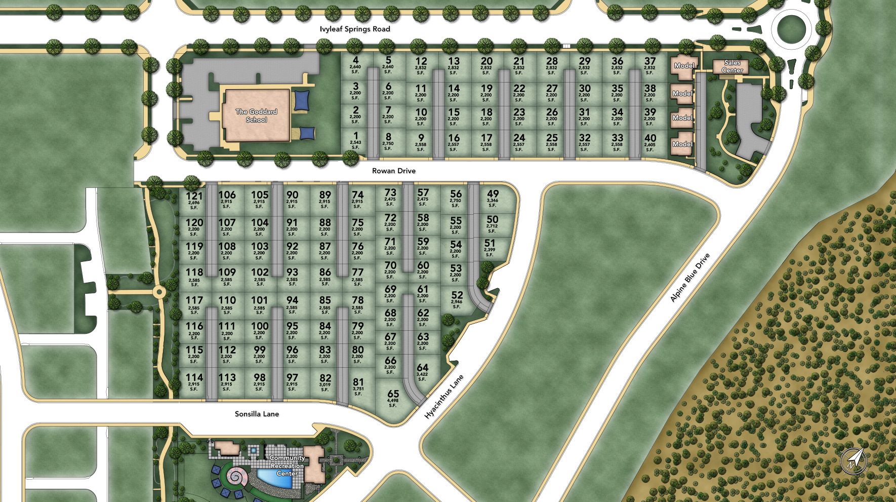 Posante at Gale Ranch Overall Site Plan
