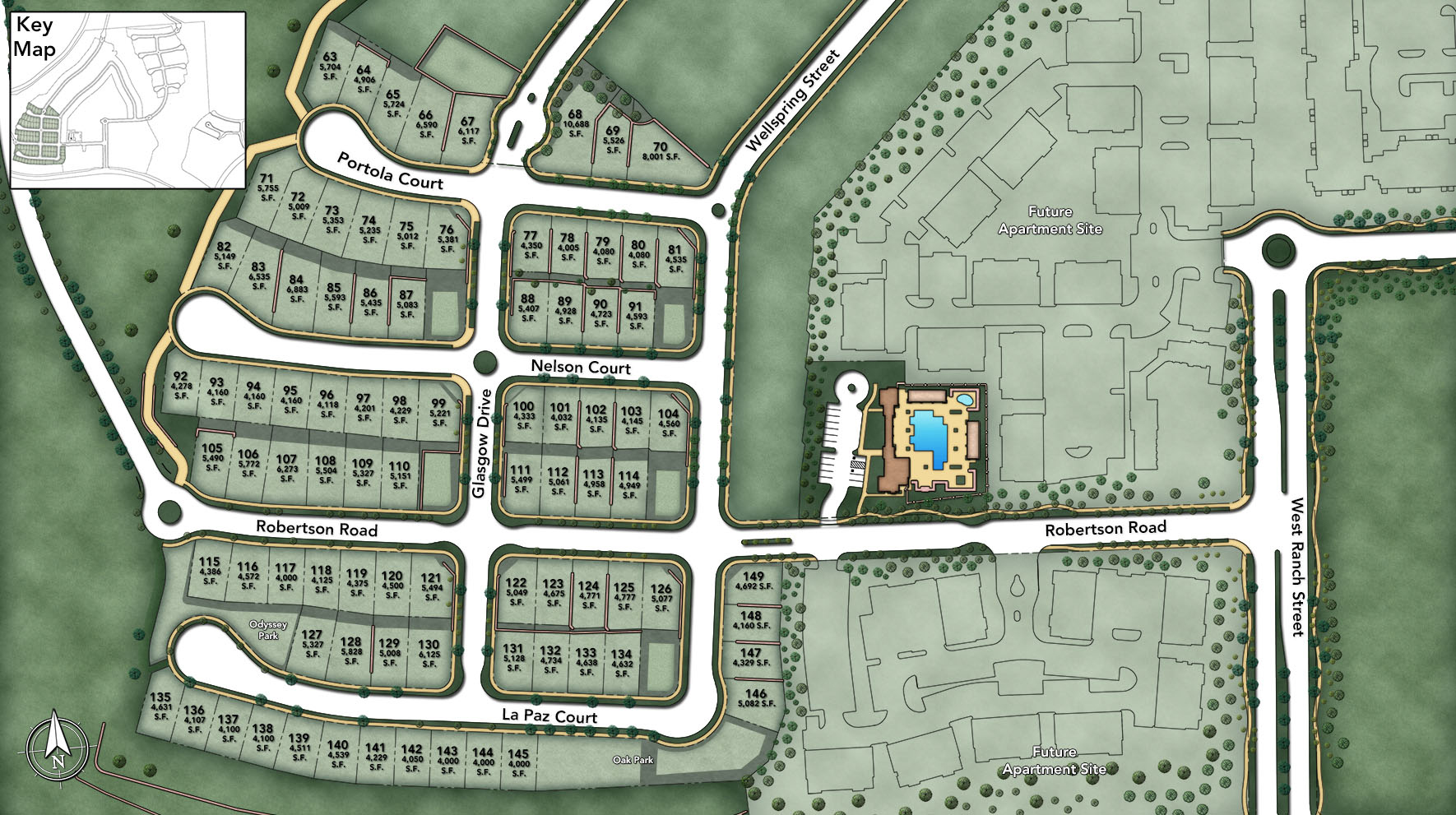 Toll Brothers at Robertson Ranch - The Ridge Site Plan