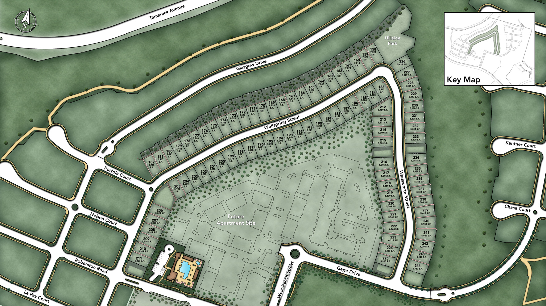 Toll Brothers at Robertson Ranch - The Vistas Site Plan